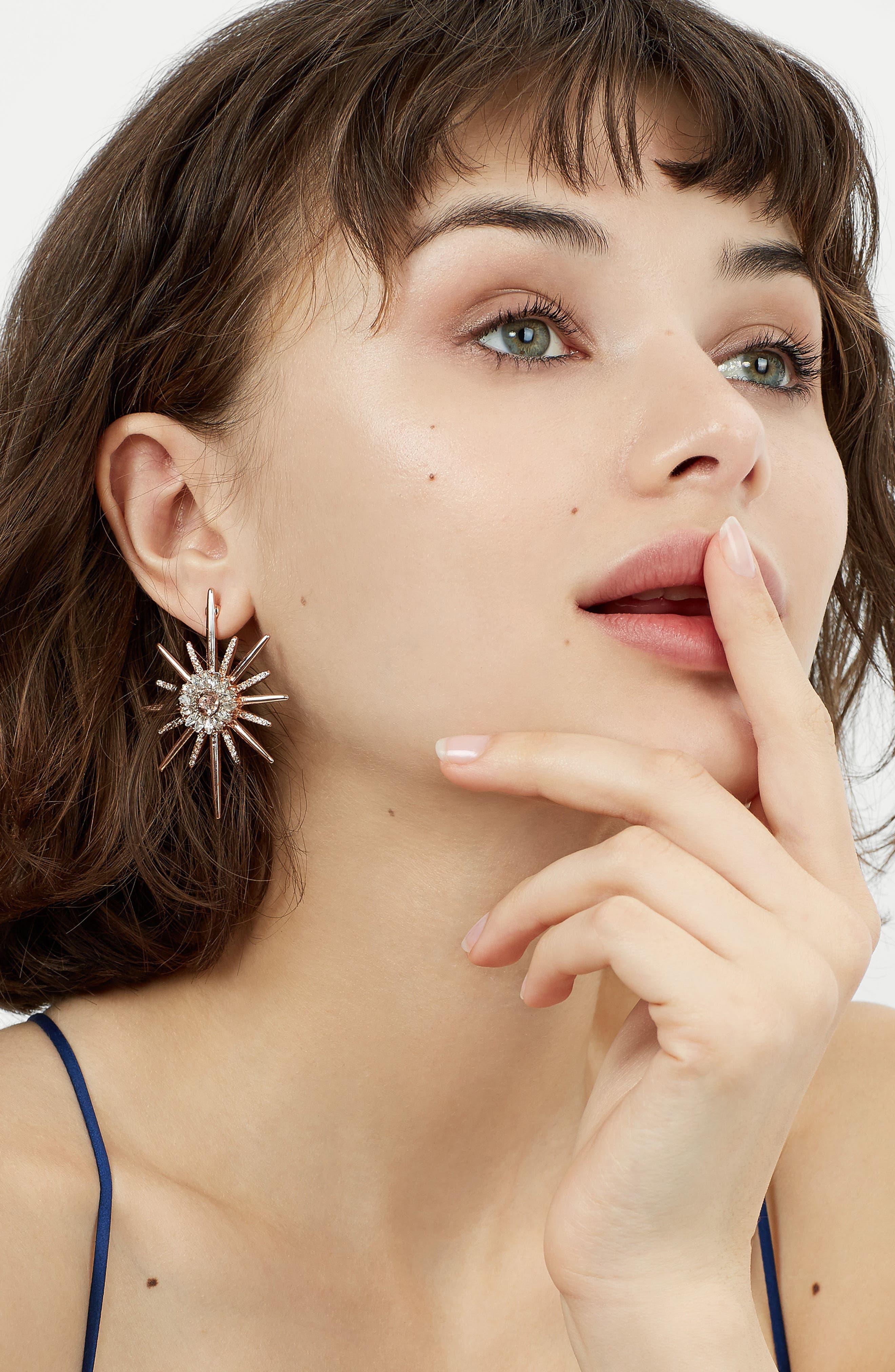 Crystal Earrings,                             Alternate thumbnail 2, color,                             710