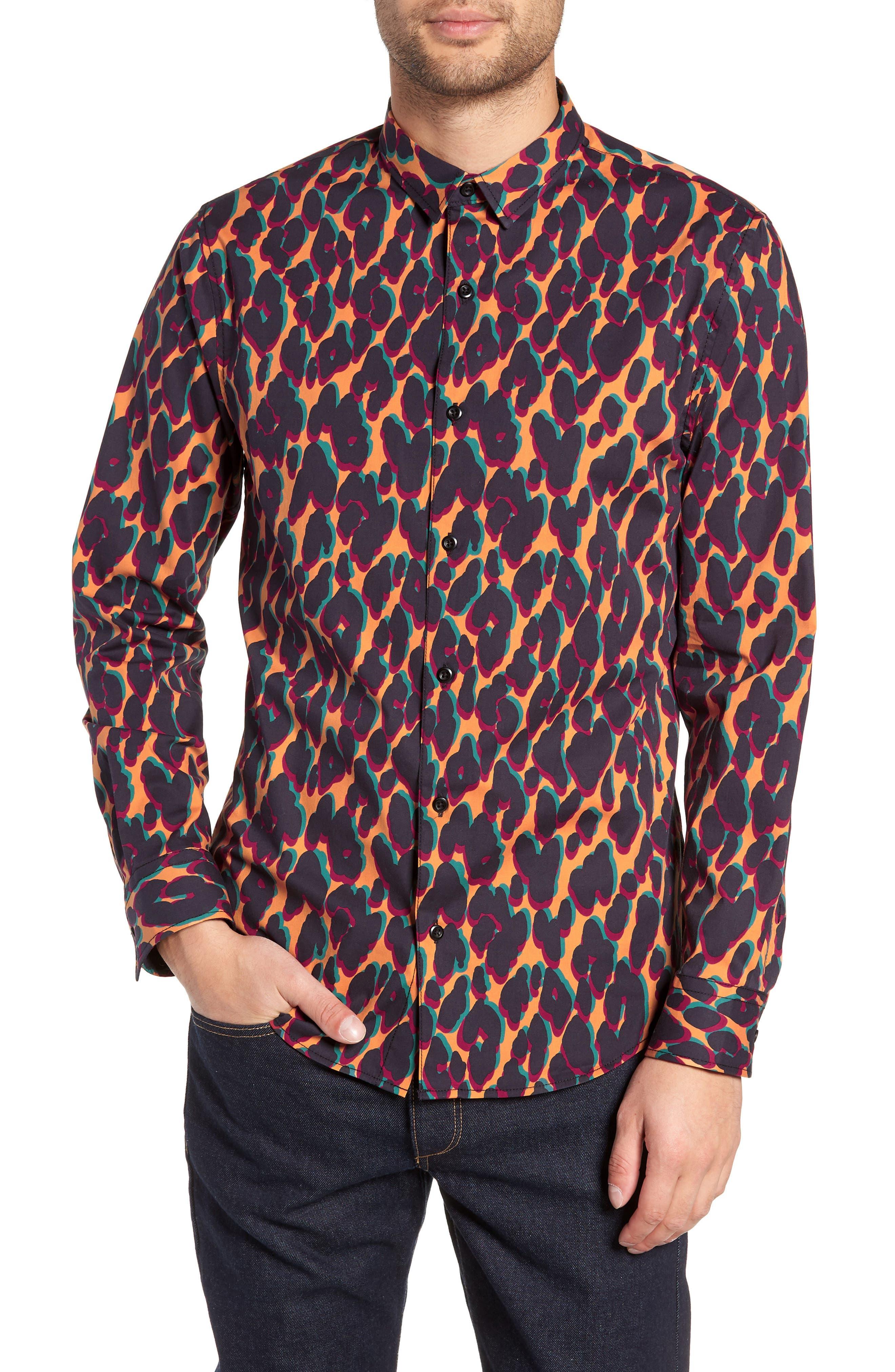 The Rail Leopard Print Sport Shirt