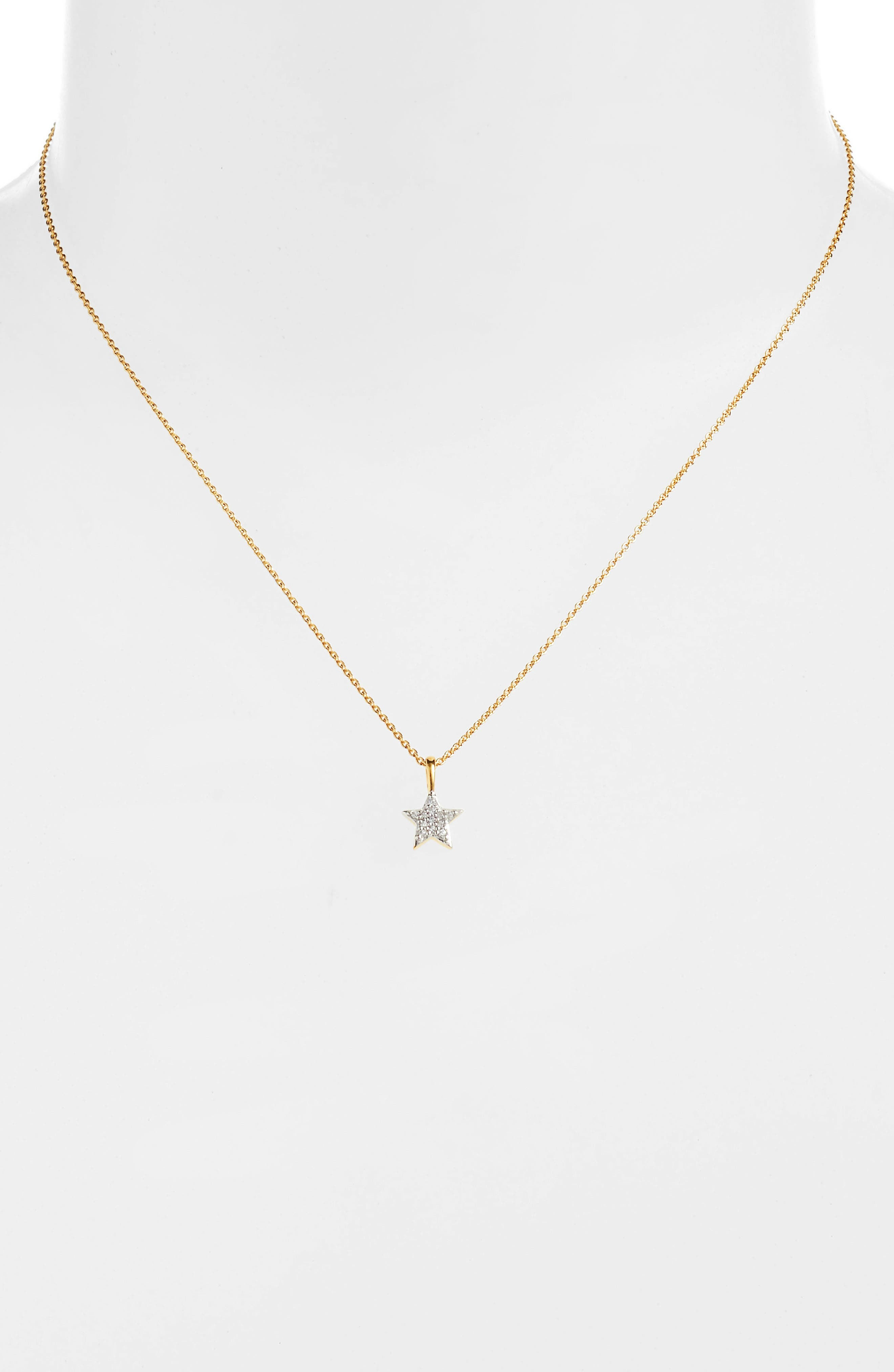 Pavé Star Pendant Necklace,                             Alternate thumbnail 2, color,                             GOLD