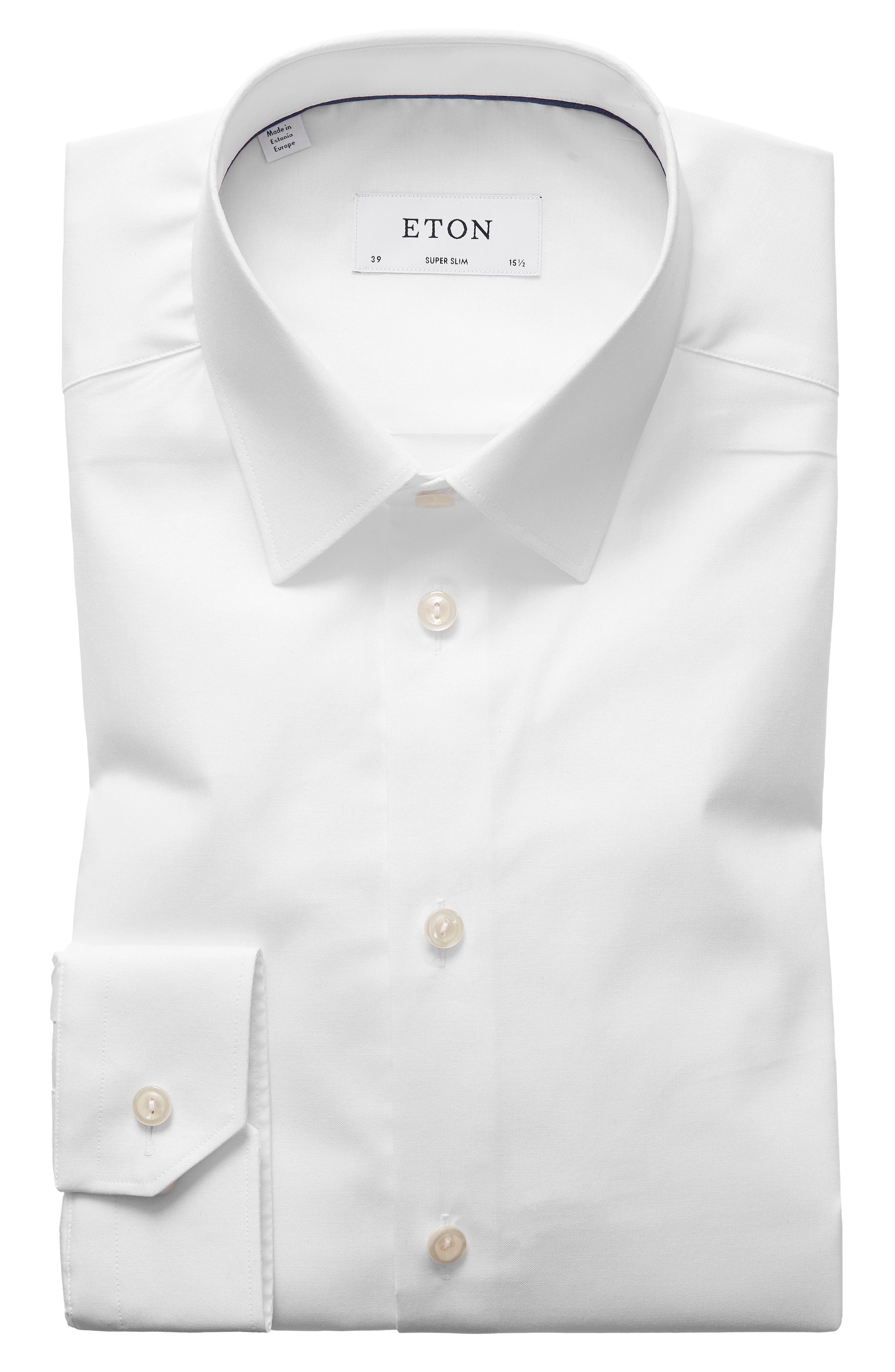 Super Slim Fit Dress Shirt,                             Main thumbnail 1, color,                             WHITE