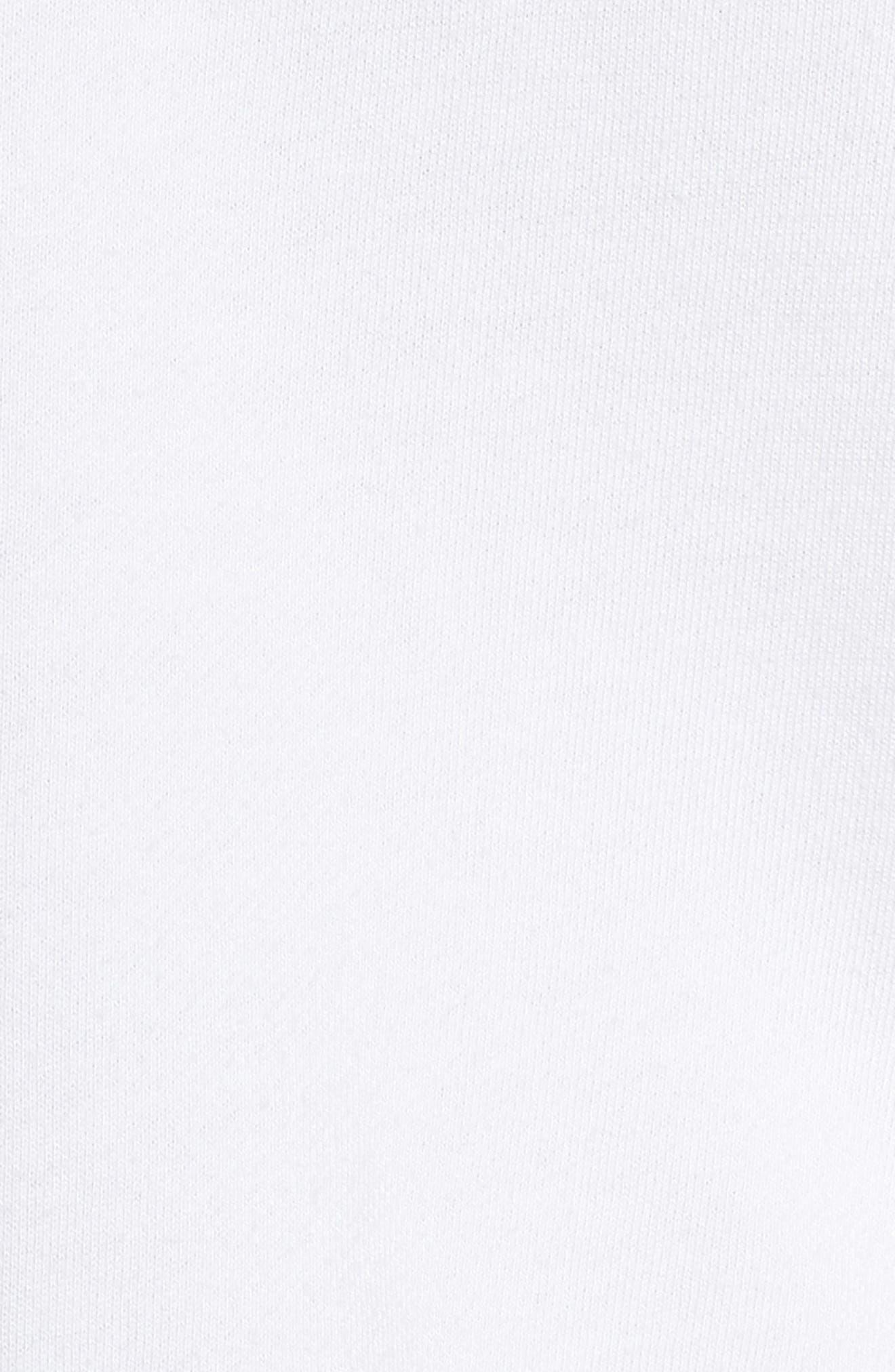 DAVID LERNER,                             Cutout Back Sweatshirt,                             Alternate thumbnail 5, color,                             WHITE