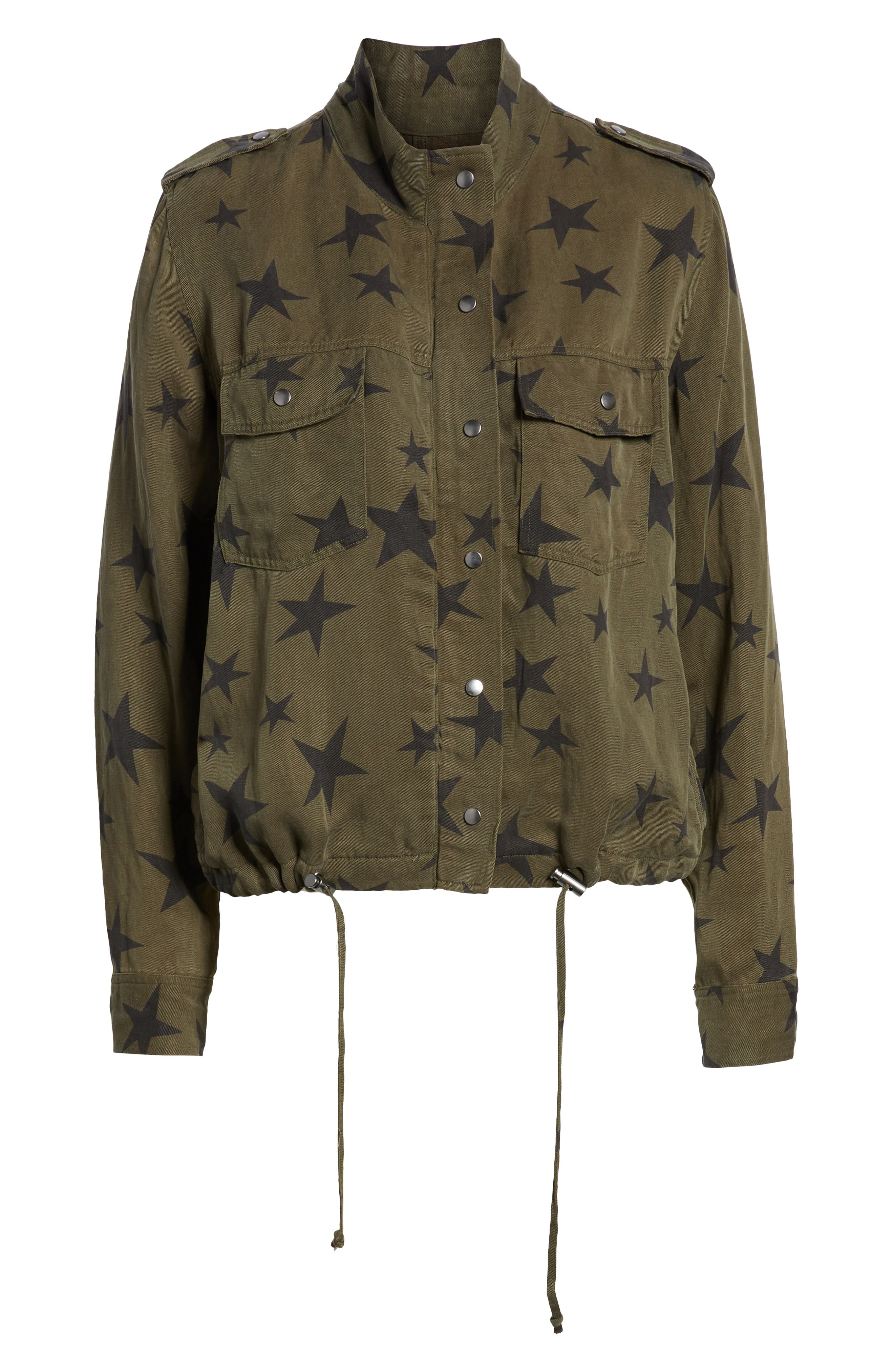 Collins Star Jacket,                             Alternate thumbnail 7, color,                             SAGE WITH BLACK STARS