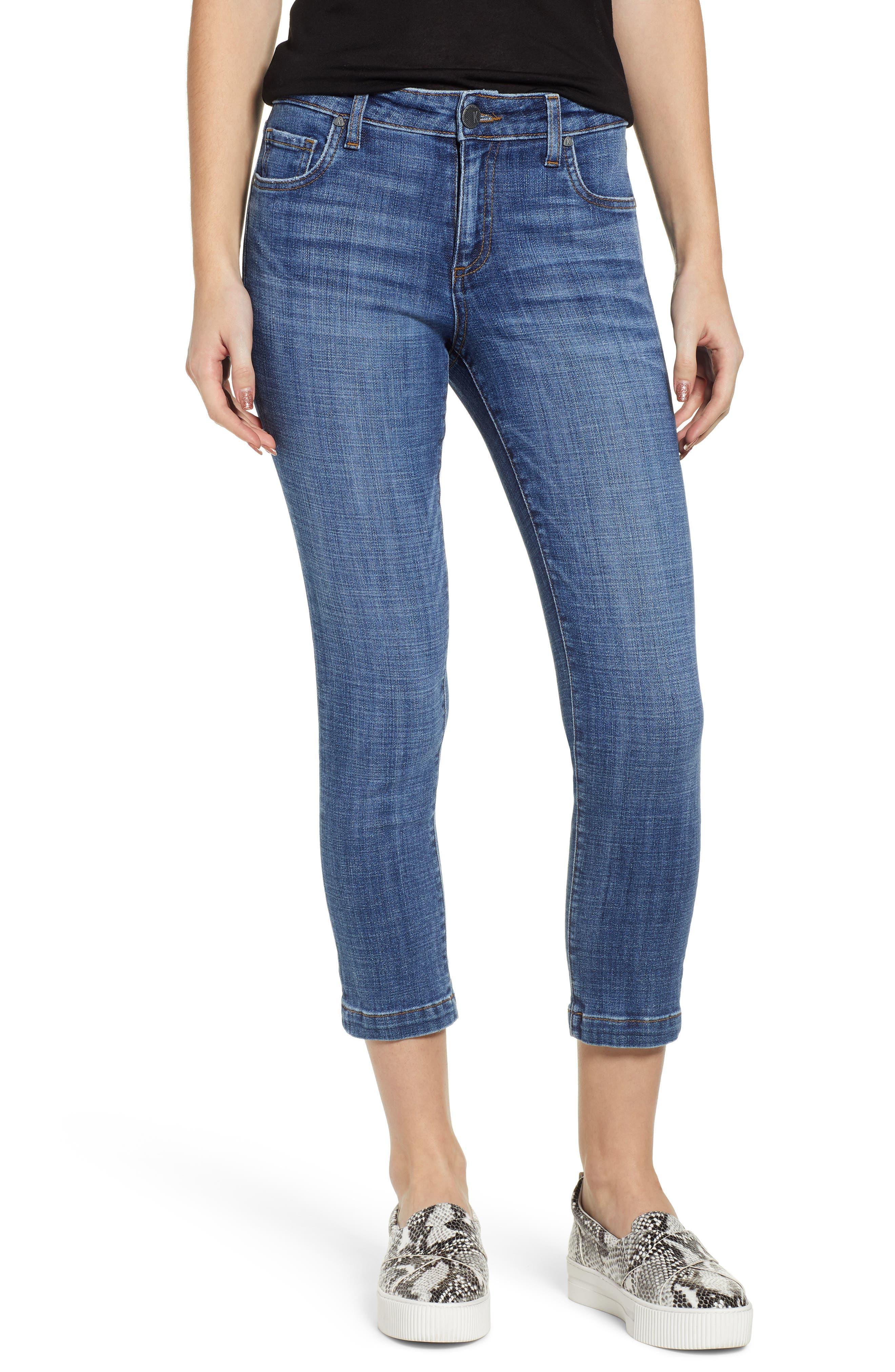 Petite Kut From The Kloth Lauren Crop Jeans, Blue