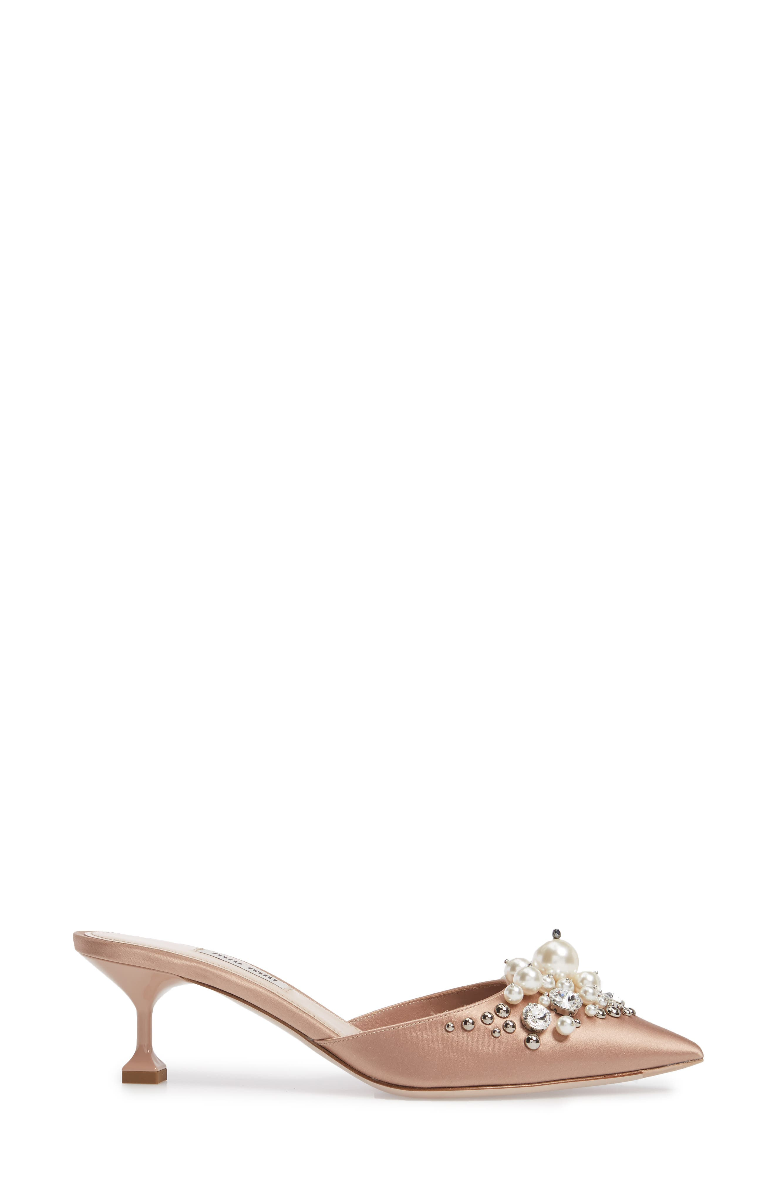Embellished Pointy Toe Mule,                             Alternate thumbnail 5, color,