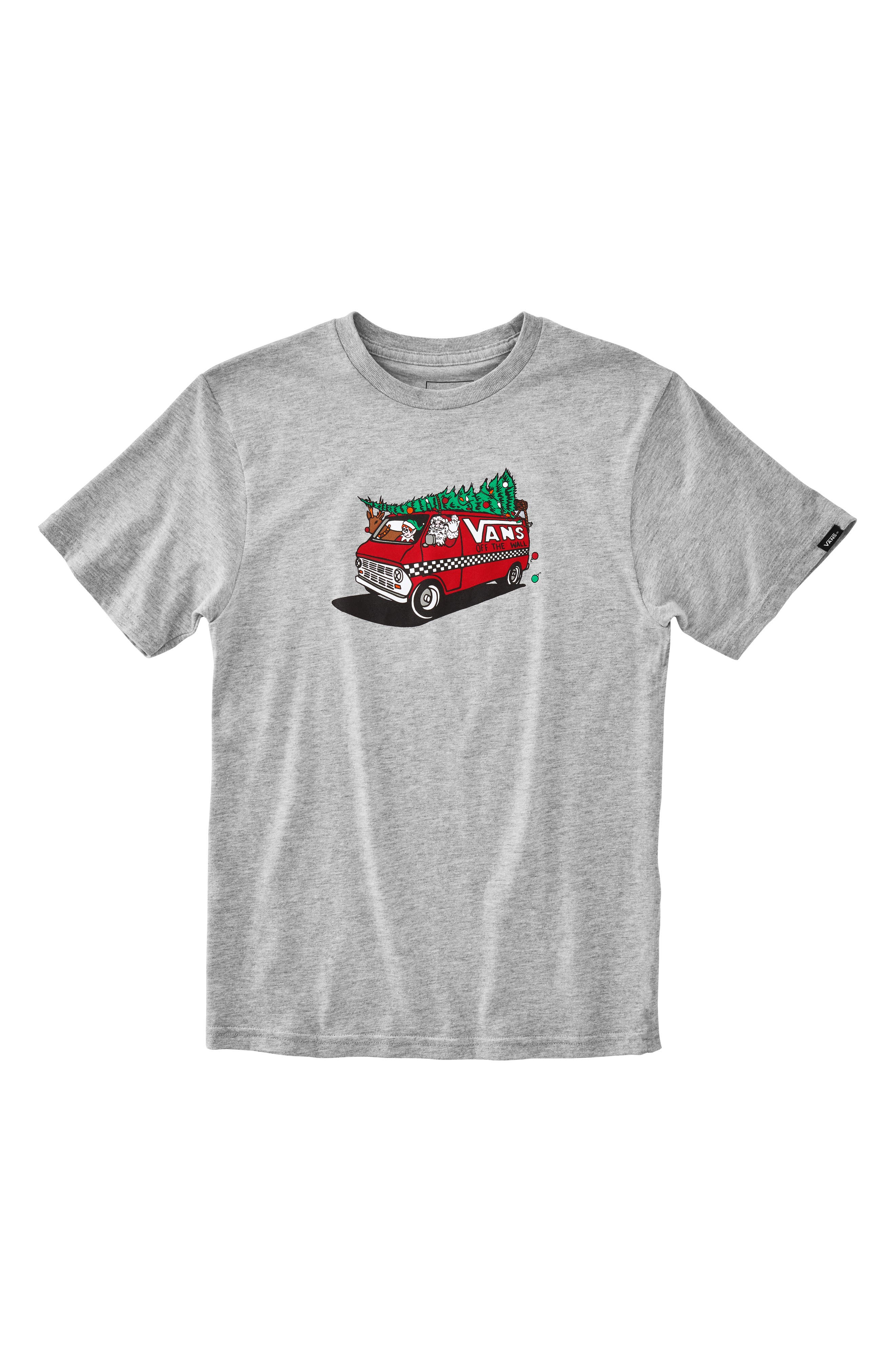 Family Christmas Graphic T-Shirt,                             Main thumbnail 1, color,                             ATHLETIC HEATHER