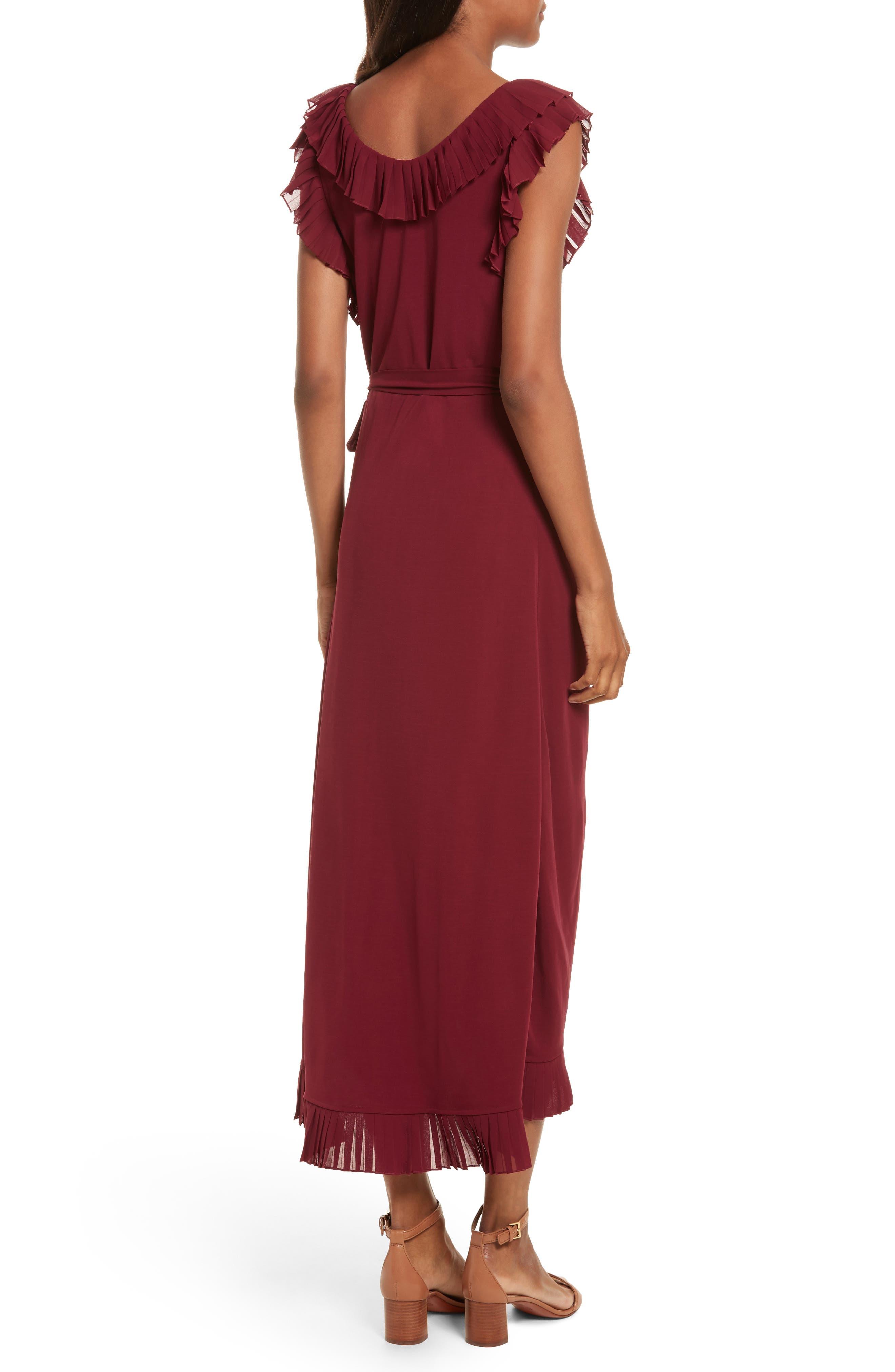 Whitney Wrap Midi Dress,                             Alternate thumbnail 2, color,