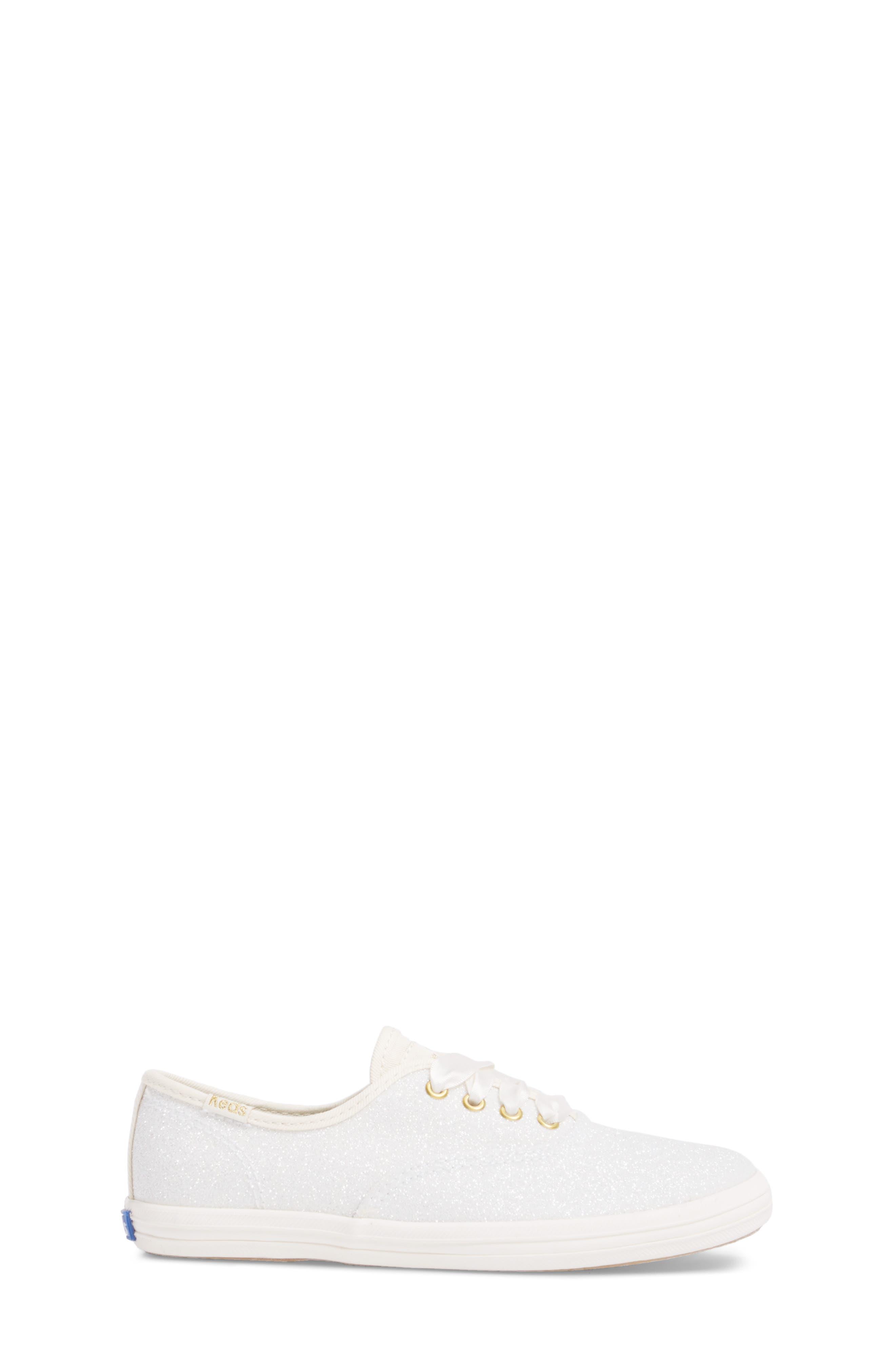 x kate spade new york Champion Glitter Sneaker,                             Alternate thumbnail 3, color,                             CREAM