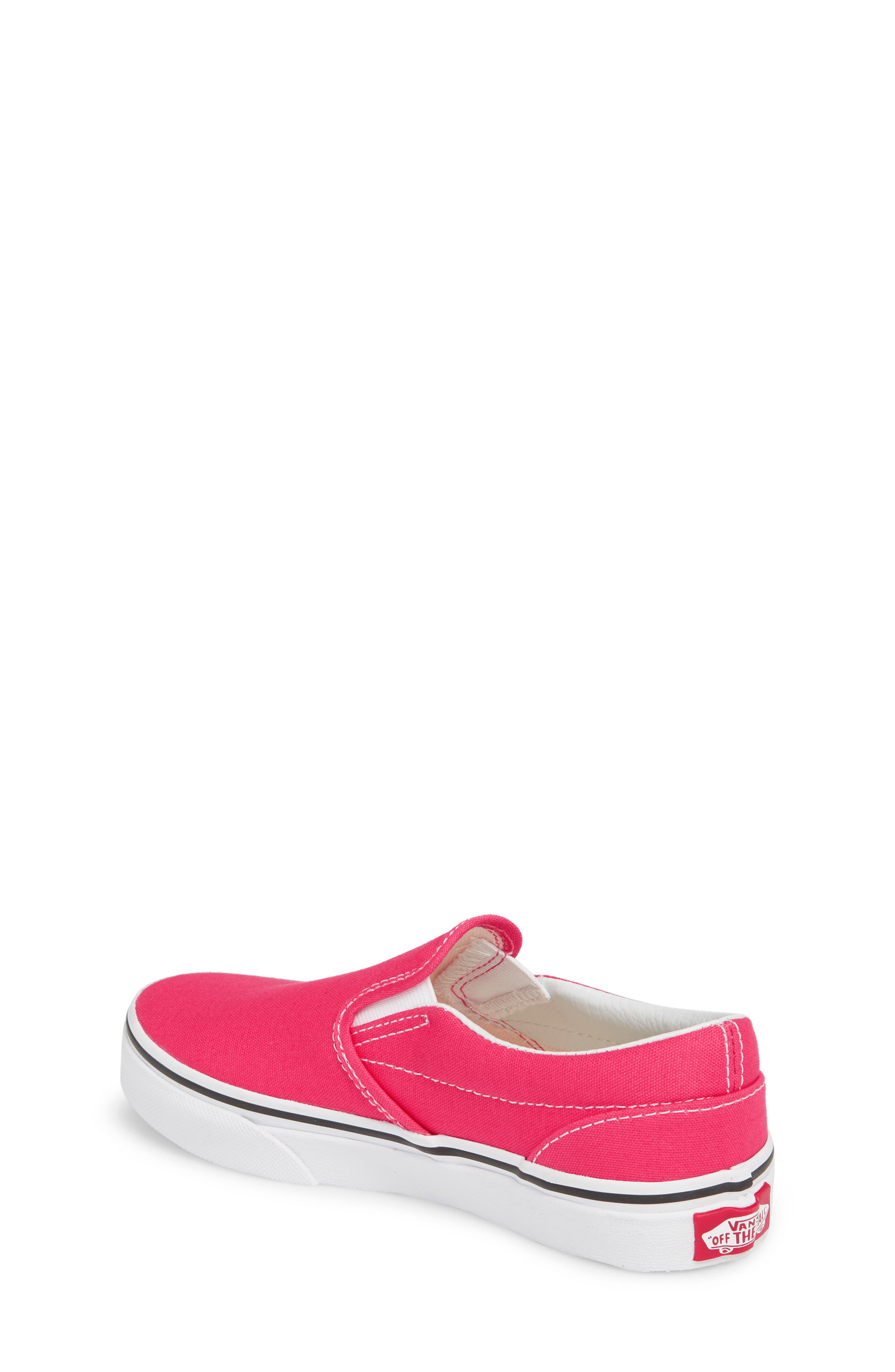 'Classic' Slip-On,                             Alternate thumbnail 2, color,                             AZALEA/ TRUE WHITE