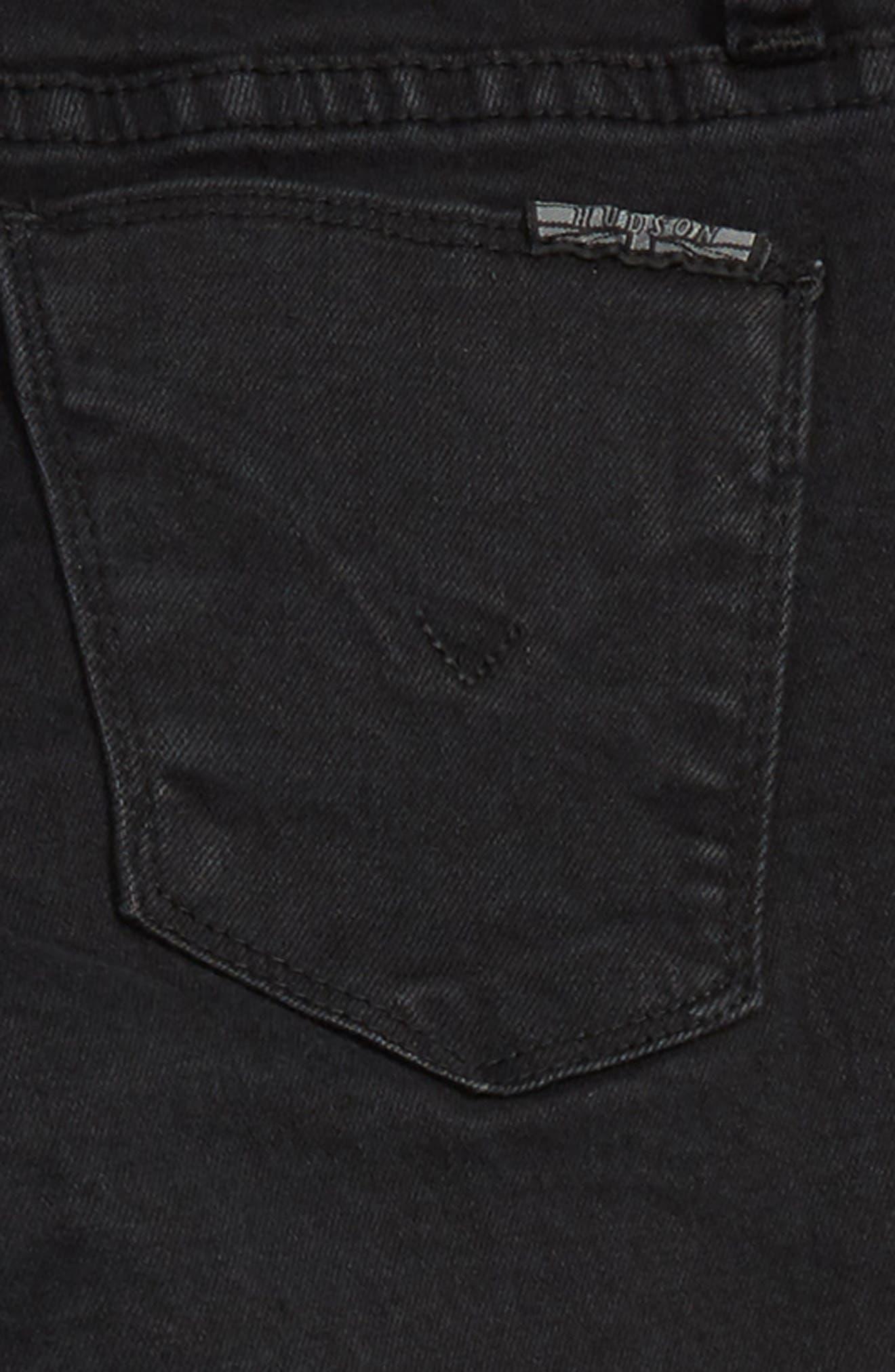 Lacy Crop Jeans,                             Alternate thumbnail 3, color,                             JET-JET BLACK