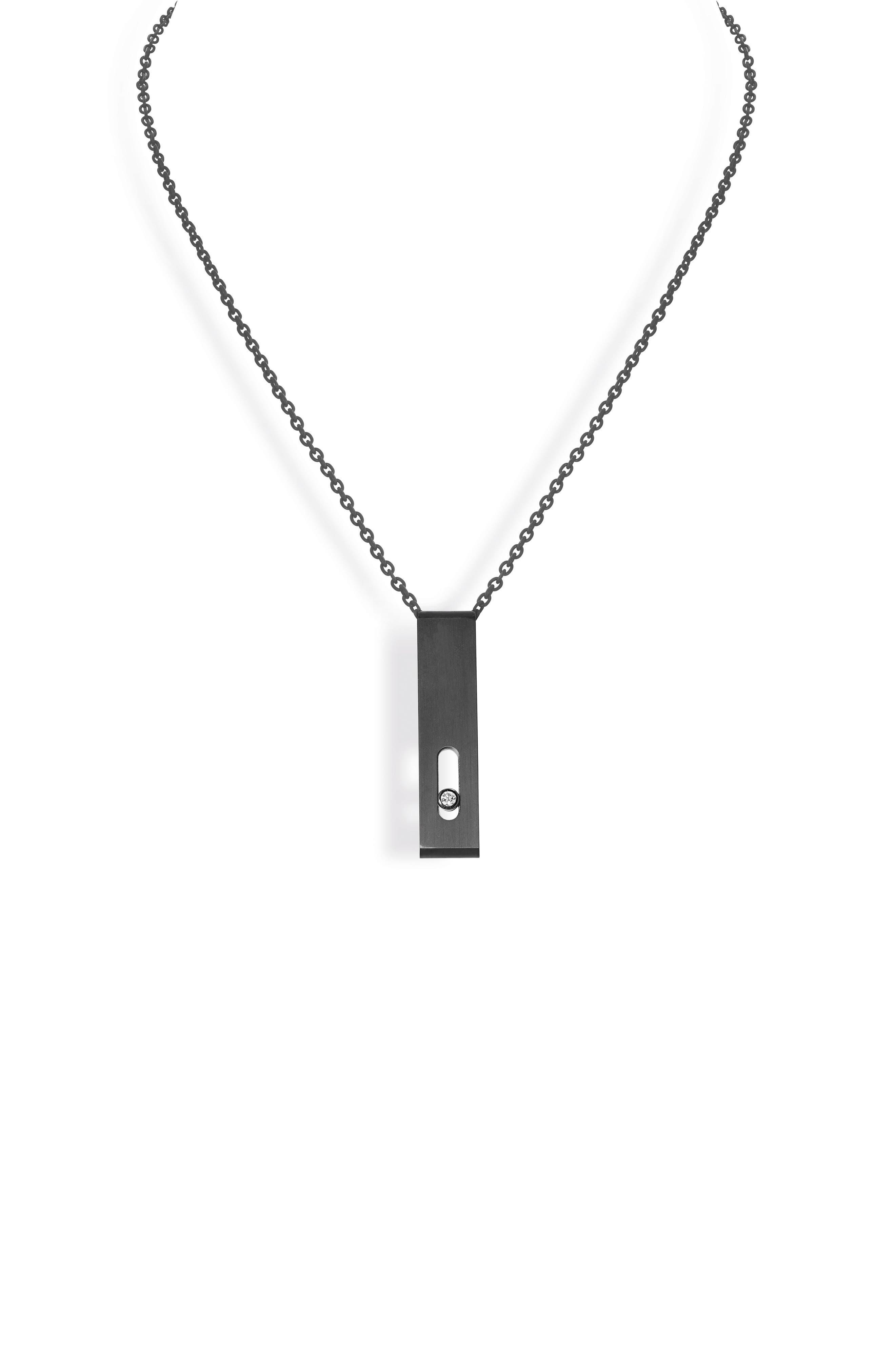 MESSIKA Titanium Move Diamond Pendant Necklace