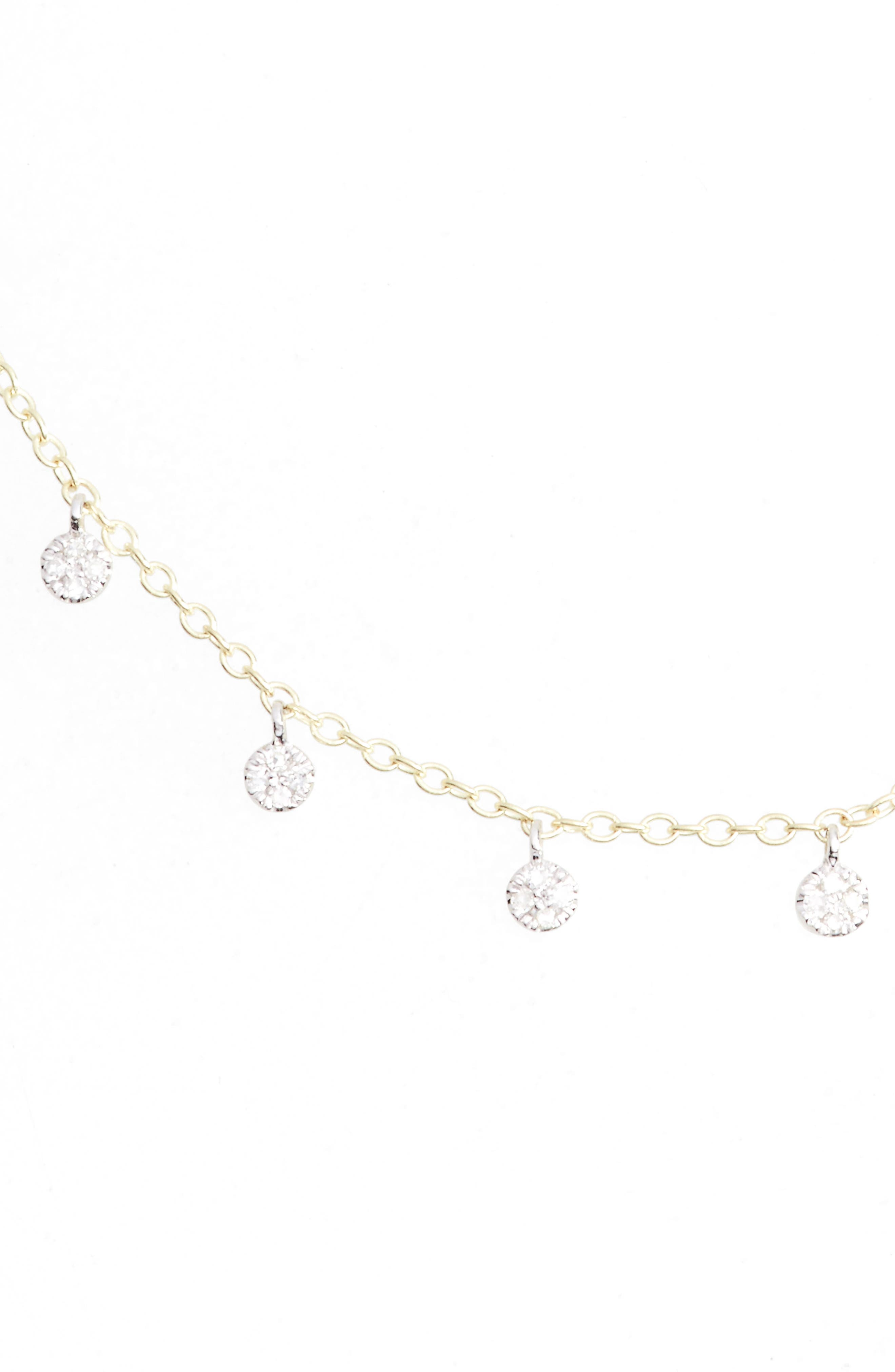 Diamond Disc Collar Necklace,                         Main,                         color, YELLOW GOLD