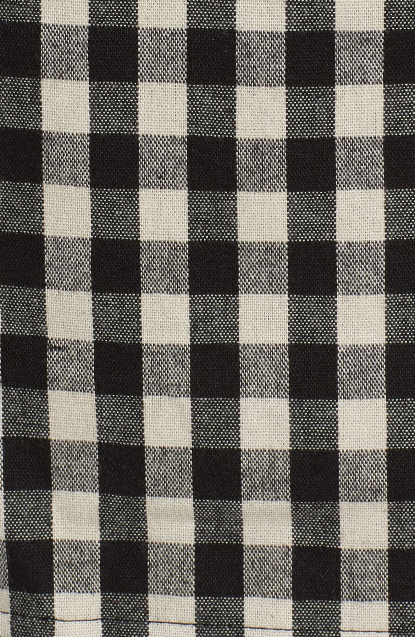 Gingham Trench Coat,                             Alternate thumbnail 7, color,                             004