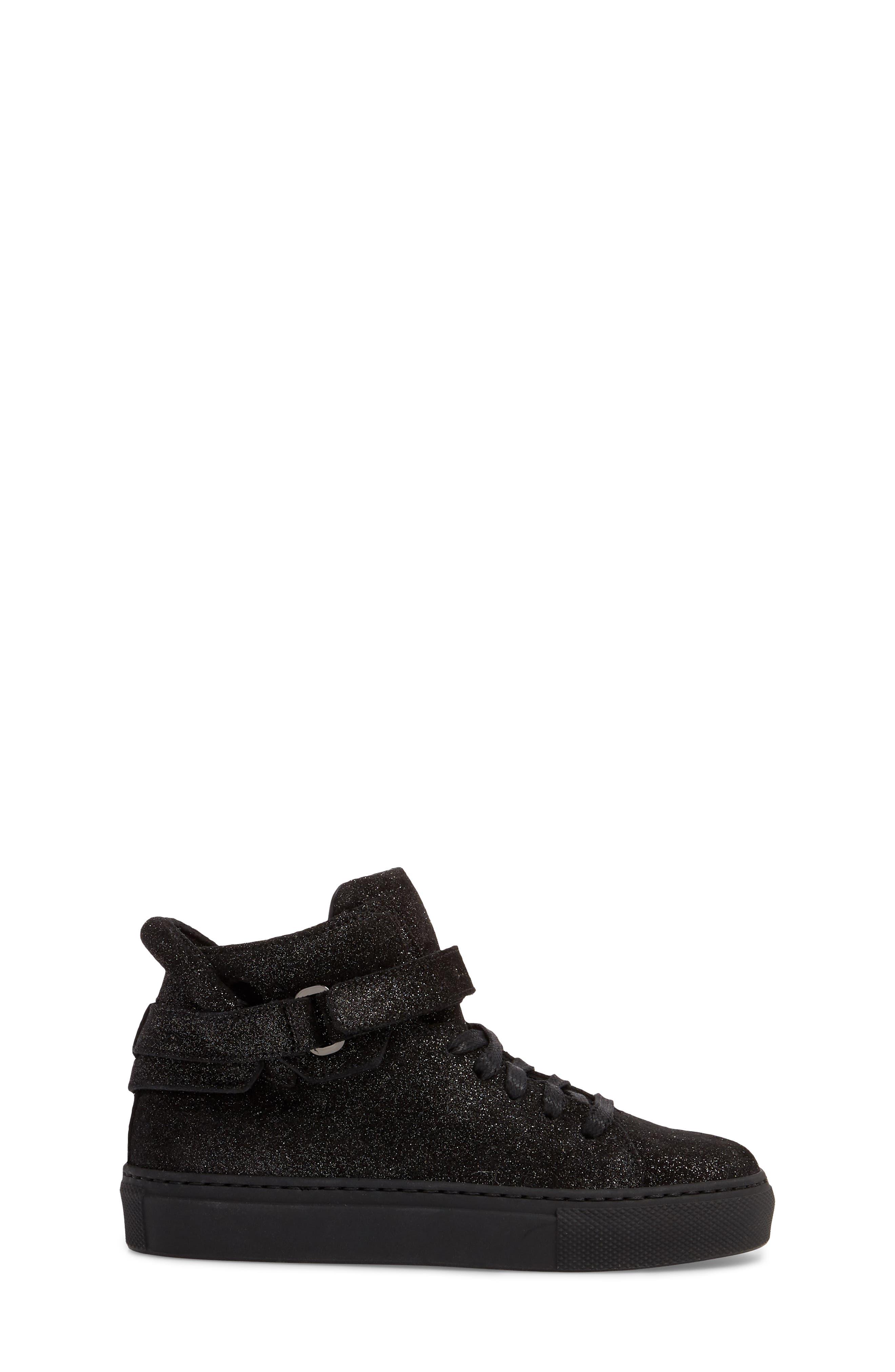 BUSCEMI,                             Gleam High Top Sneaker,                             Alternate thumbnail 3, color,                             001