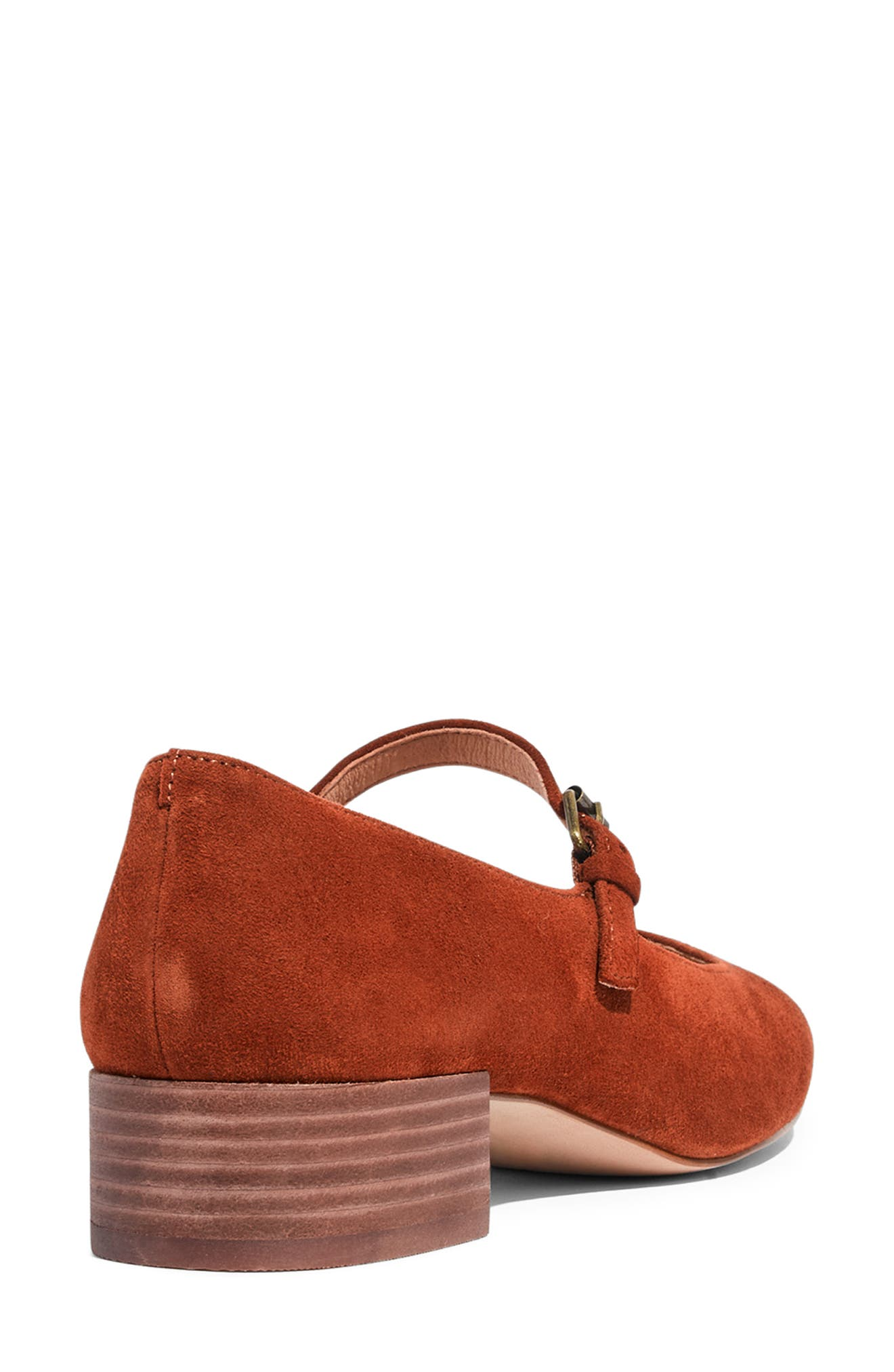 The Delilah Mary Jane Pump,                             Alternate thumbnail 8, color,                             MAPLE SYRUP SUEDE
