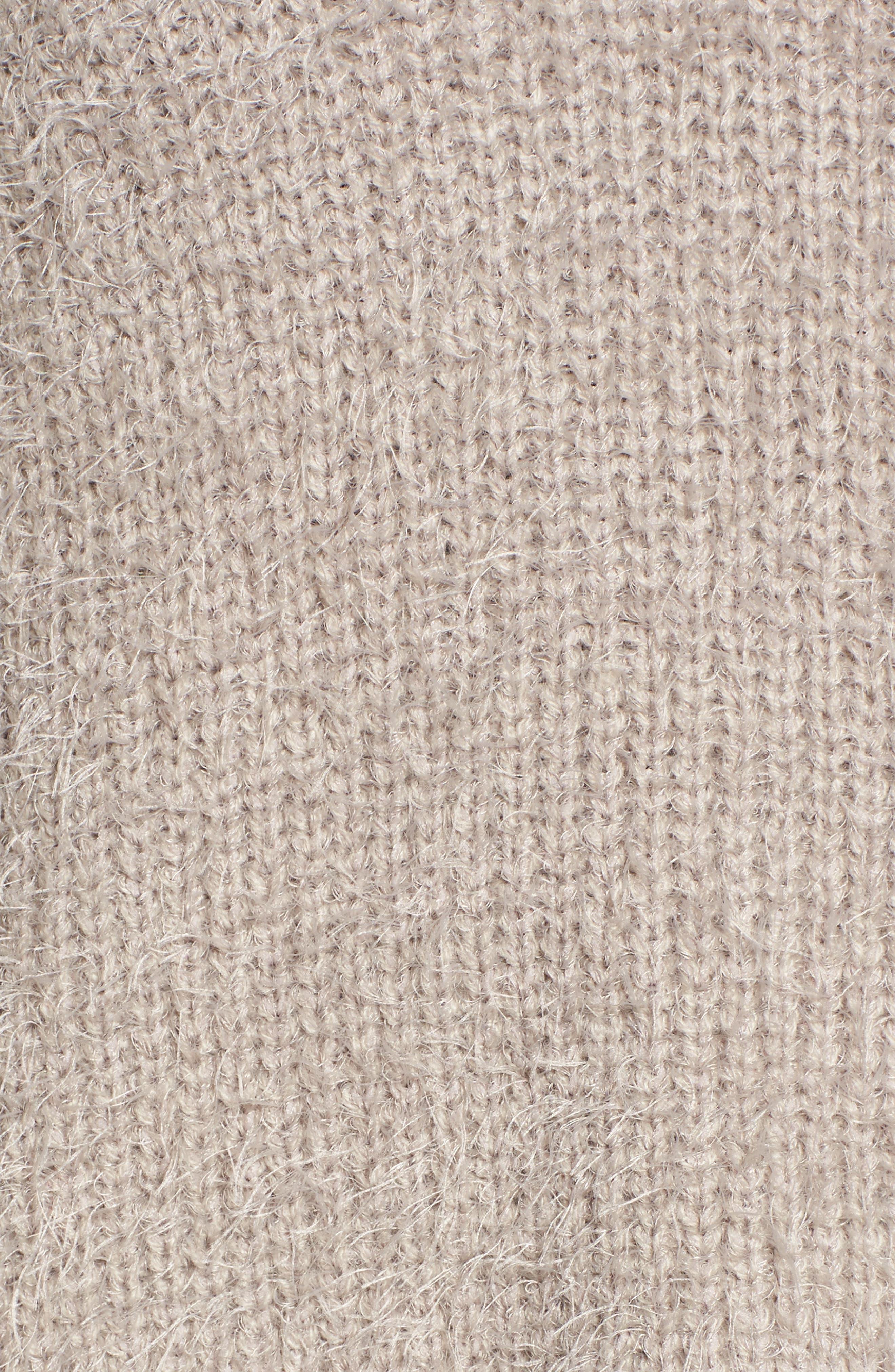 Eyelash Knit Hooded Sweater,                             Alternate thumbnail 5, color,                             260