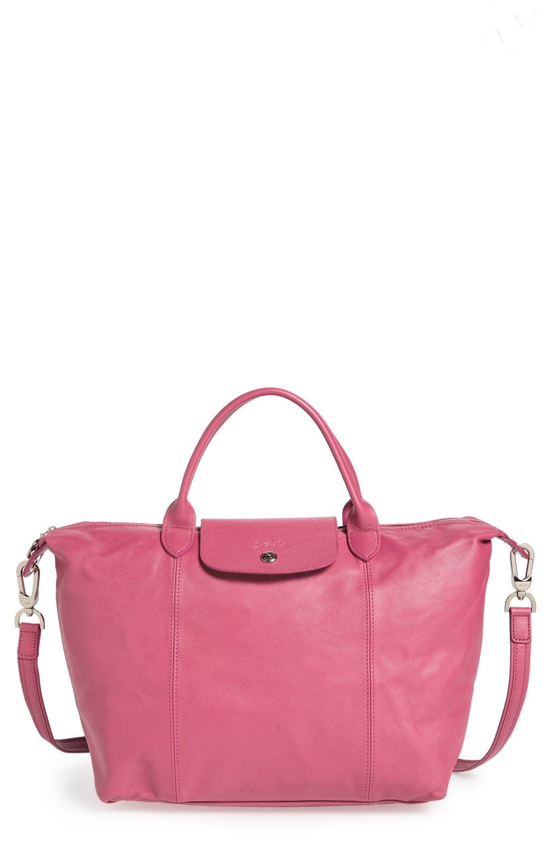 Medium 'Le Pliage Cuir' Leather Top Handle Tote,                             Main thumbnail 31, color,