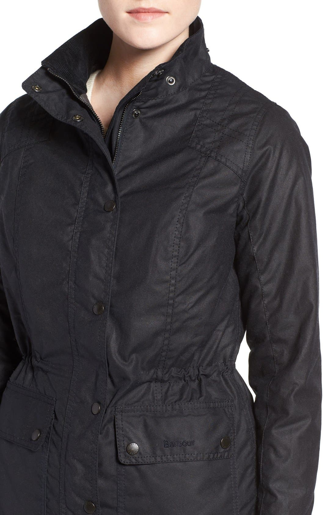 'Orkney' Waxed Cotton Anorak with Removable Hood,                             Alternate thumbnail 2, color,                             410