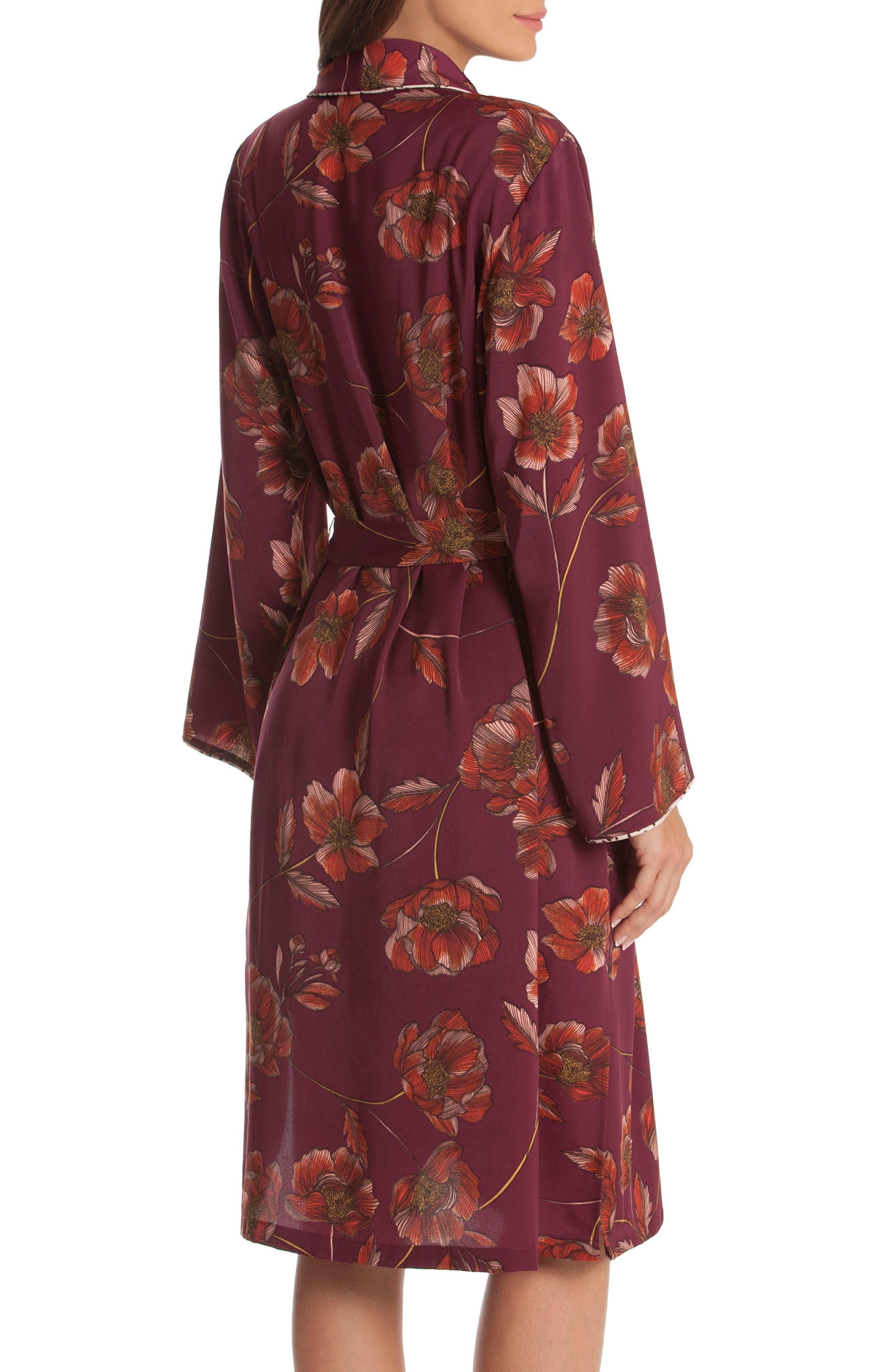 Austin Floral Robe,                             Alternate thumbnail 2, color,                             PLUM