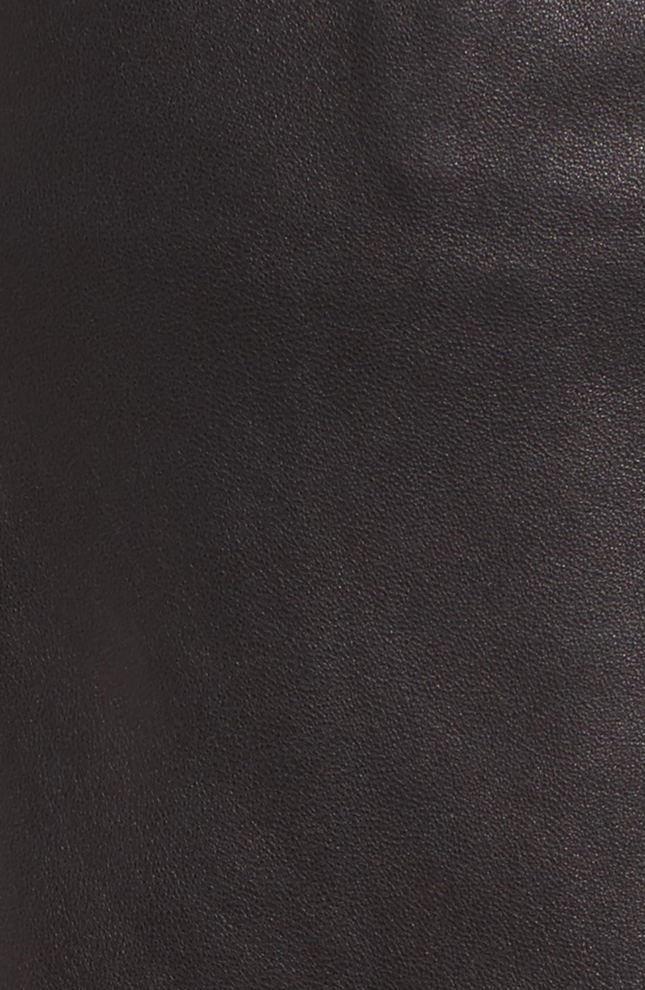 Grommet Suede Miniskirt,                             Alternate thumbnail 5, color,