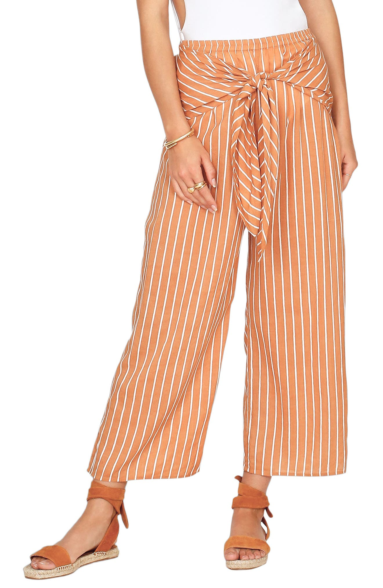 Blurred Lines Knot Front Pants,                             Main thumbnail 2, color,