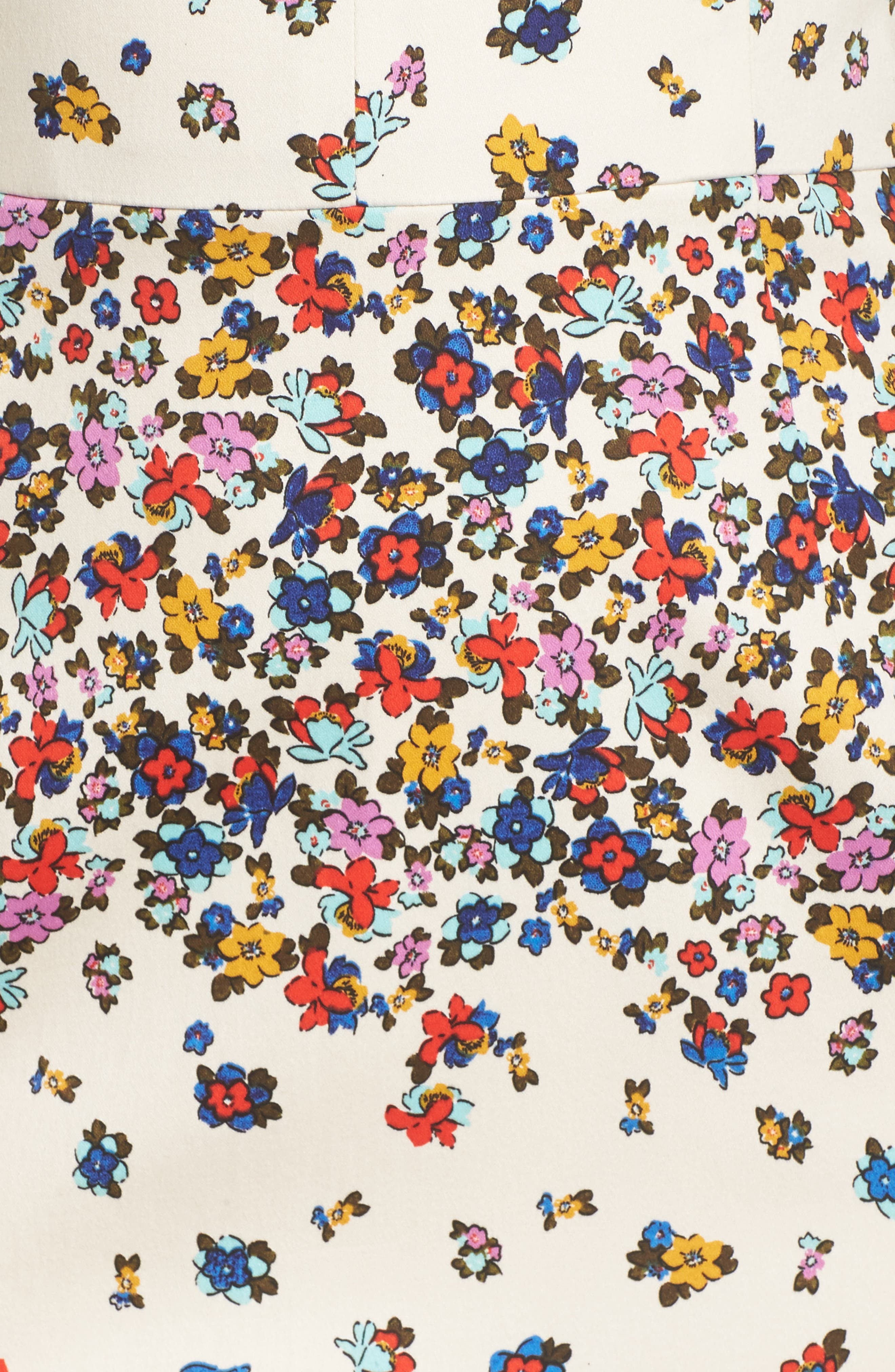 Placed Print Sateen Sheath Dress,                             Alternate thumbnail 5, color,