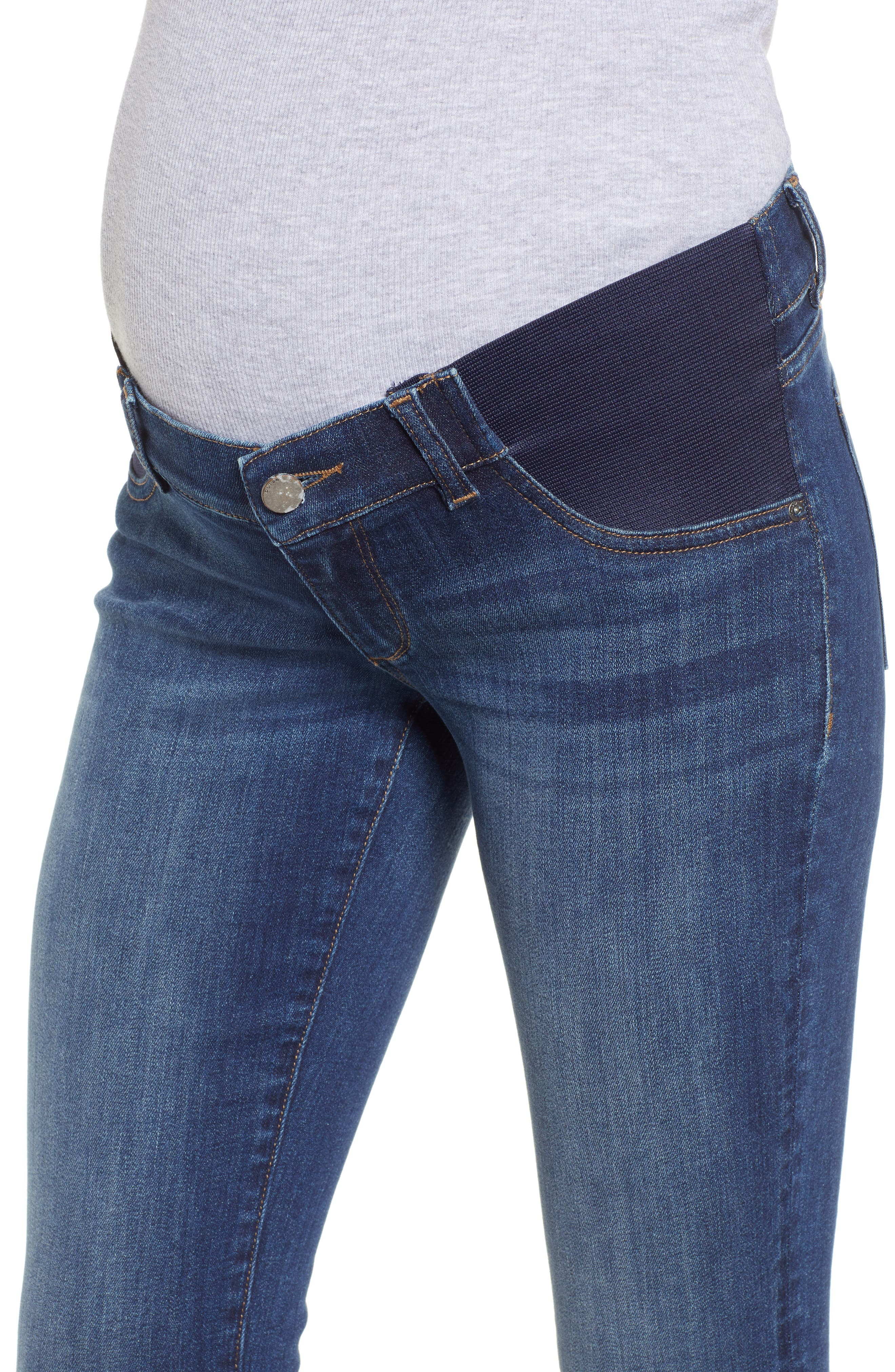 Florence Maternity Skinny Jeans,                             Alternate thumbnail 4, color,                             001