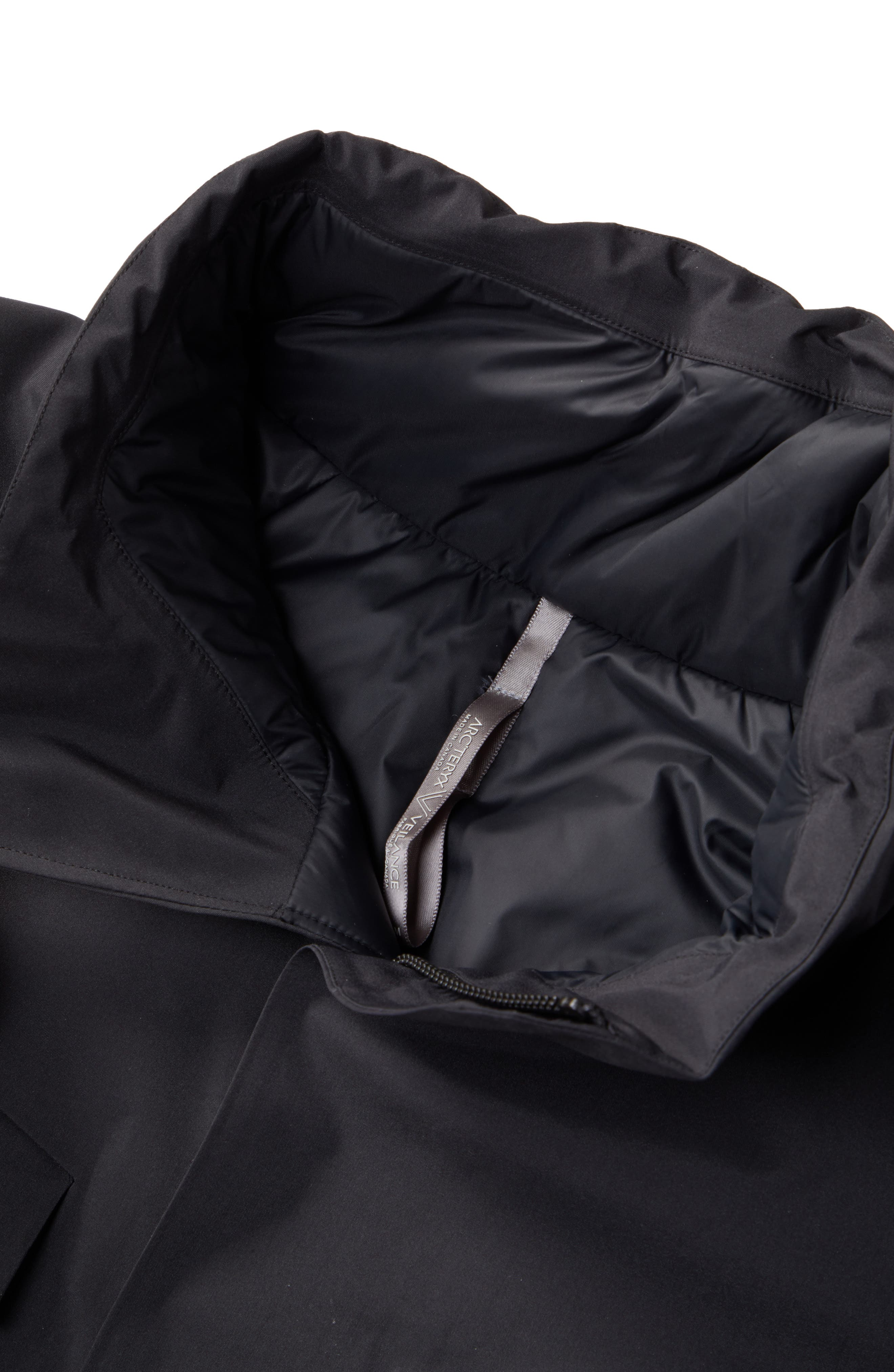 Gore-Tex<sup>®</sup> Pro Waterproof/Windproof Insulated Field Jacket,                             Alternate thumbnail 5, color,                             BLACK