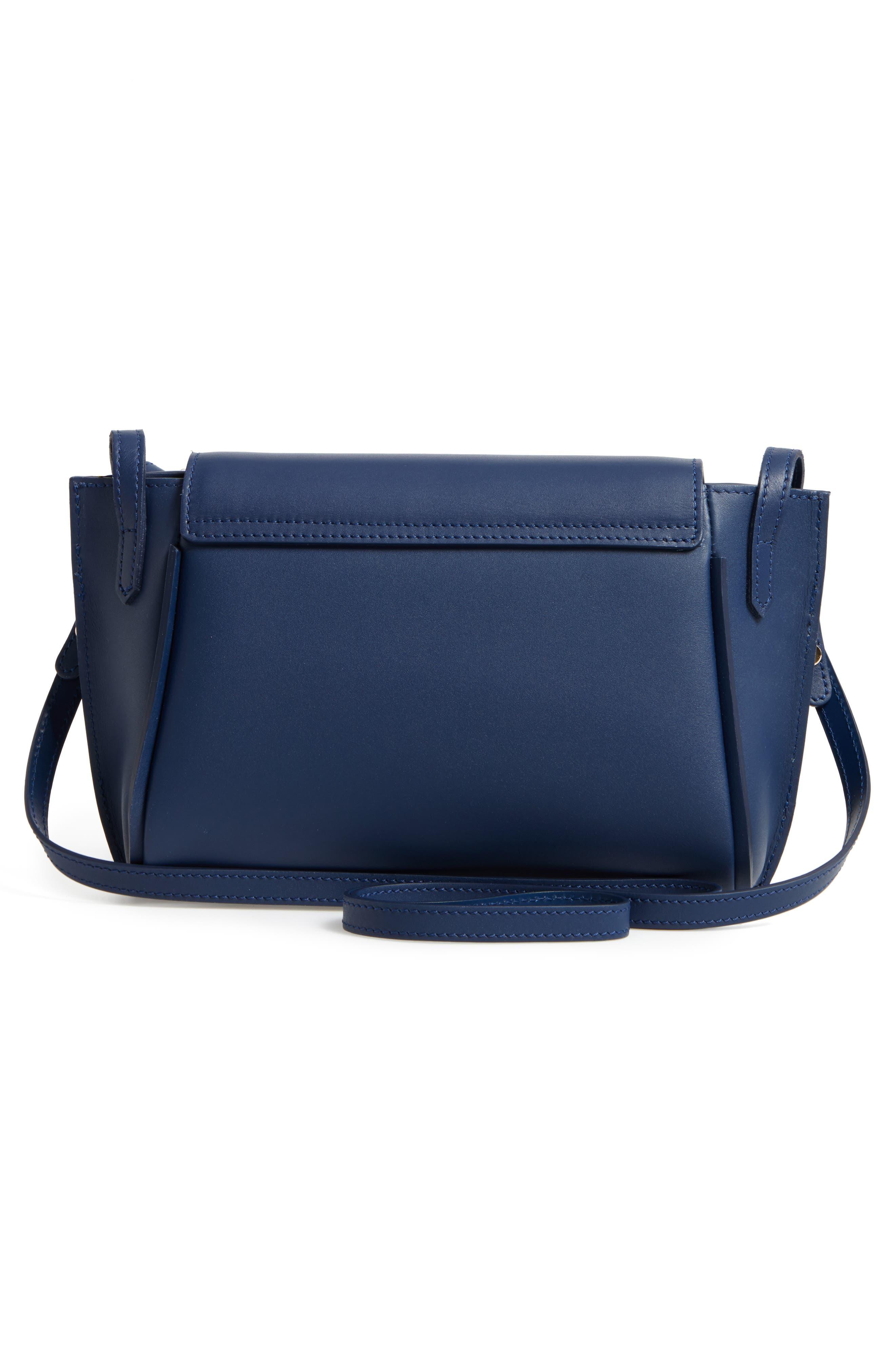 Small Penelope Leather Crossbody Bag,                             Alternate thumbnail 3, color,                             400