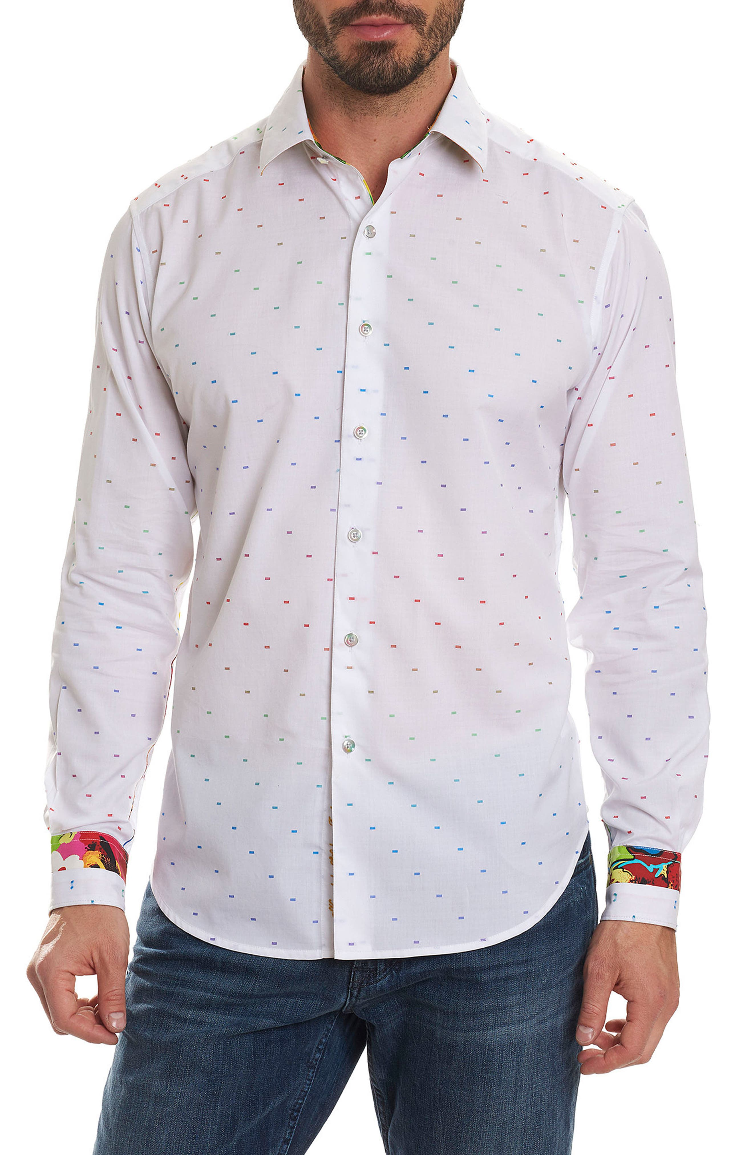 Karyan Limited Edition Classic Fit Sport Shirt,                             Main thumbnail 1, color,                             100
