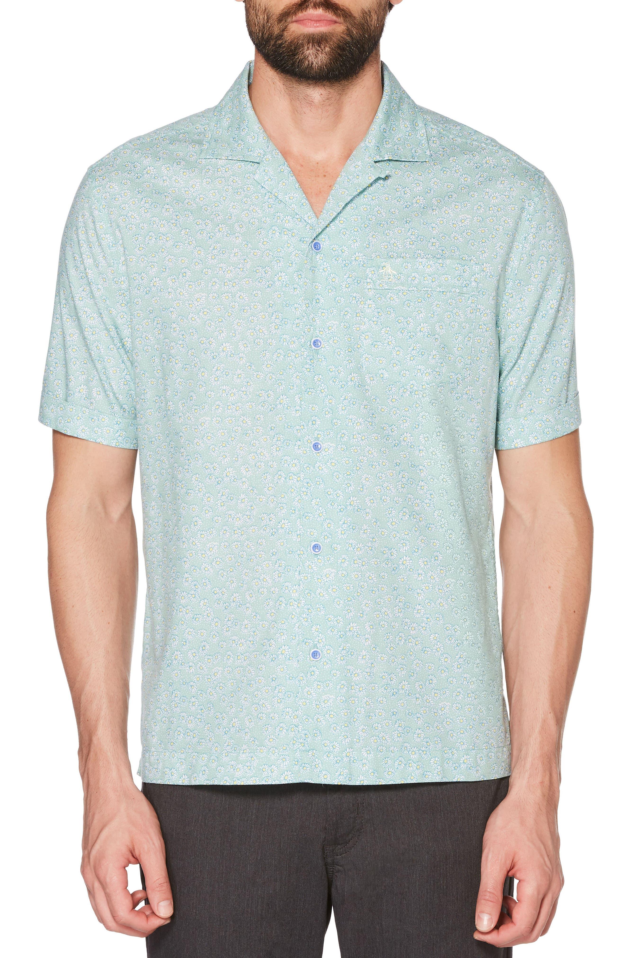 Daisy Print Woven Shirt,                             Main thumbnail 1, color,