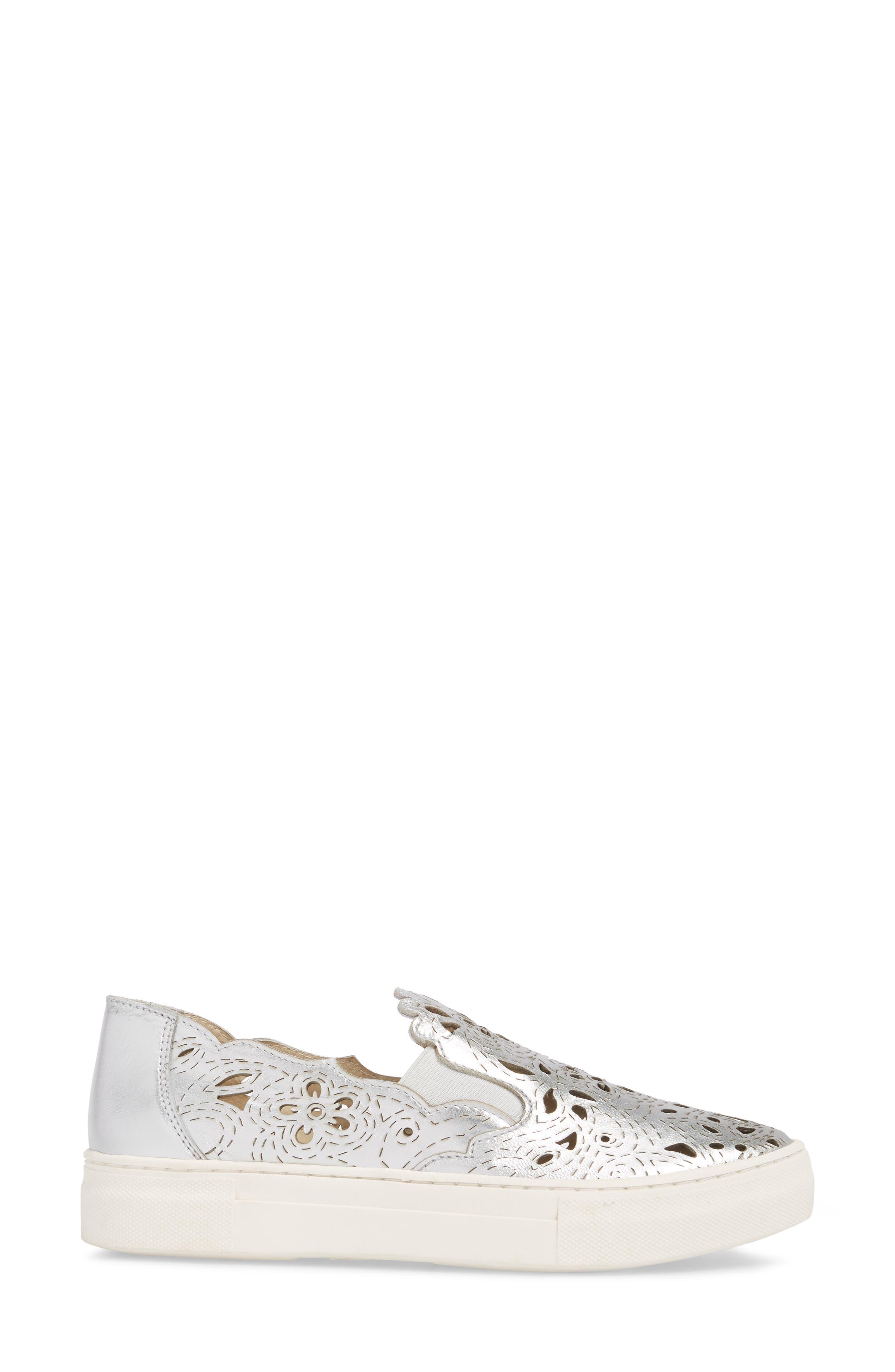 Even Better Laser Cutout Slip-On Sneaker,                             Alternate thumbnail 3, color,                             040