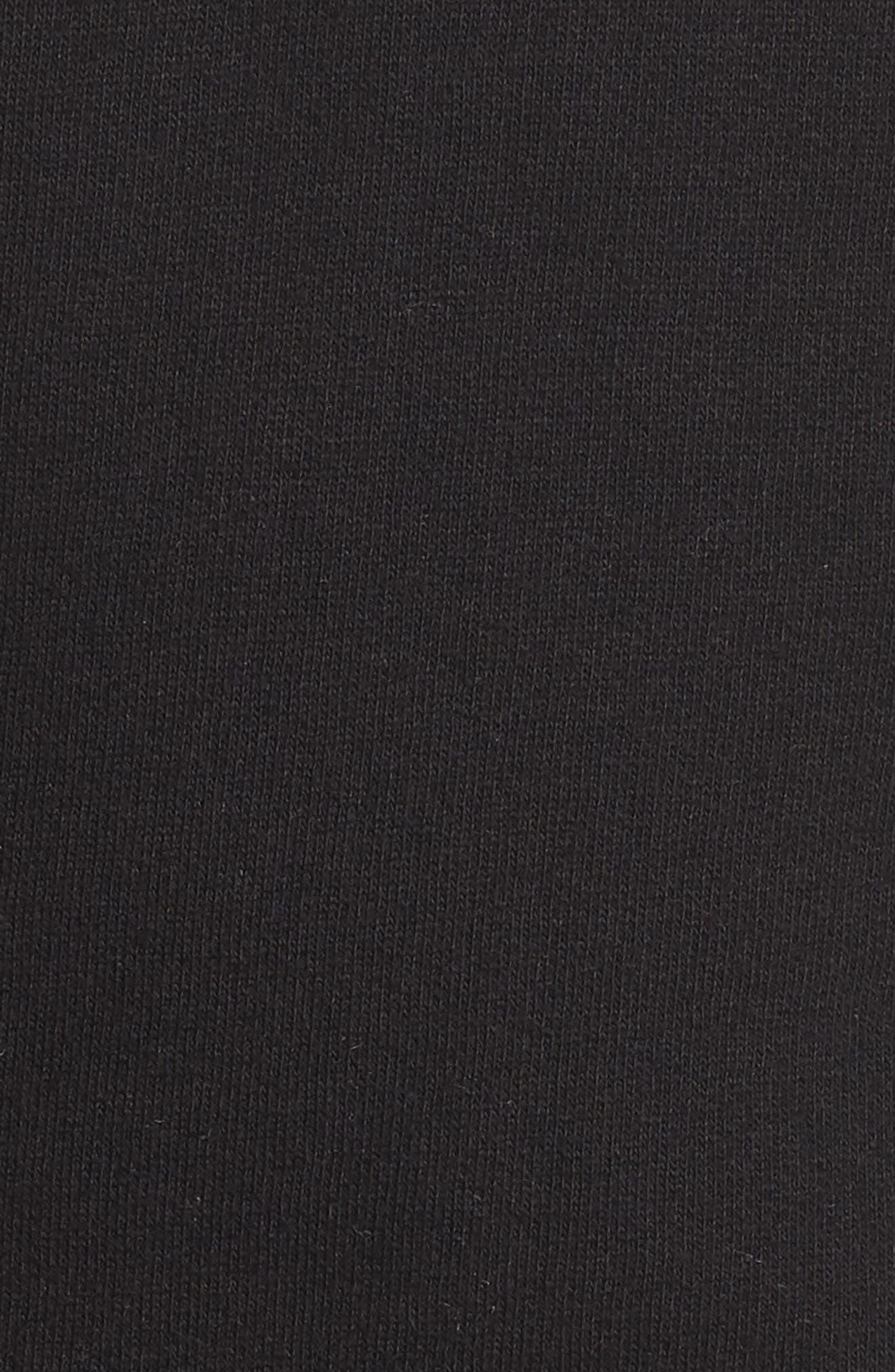 Rosé Okay Sweatshirt,                             Alternate thumbnail 5, color,                             BLACK