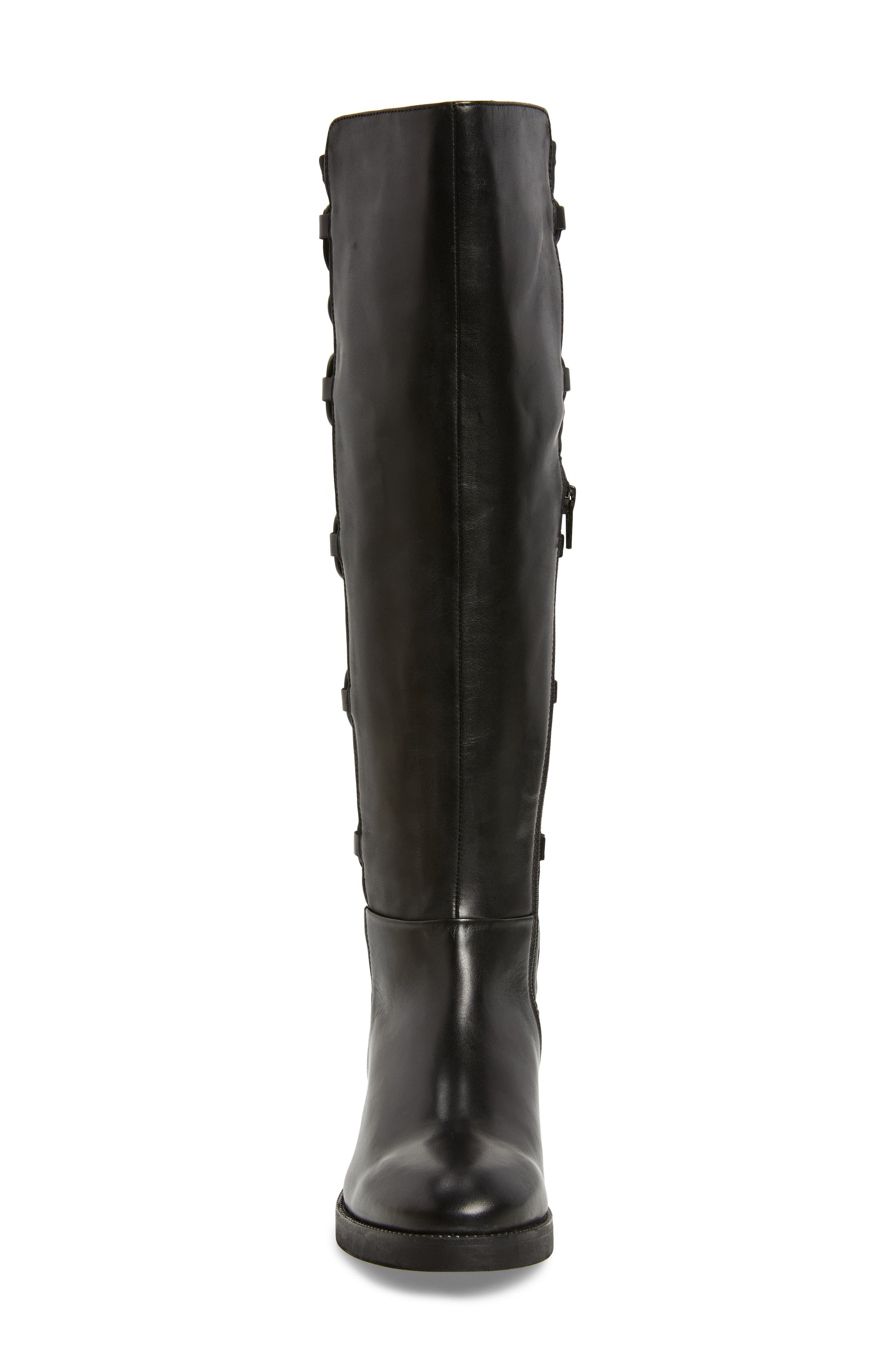 Dramatic Stretch Back Riding Boot,                             Alternate thumbnail 4, color,                             001