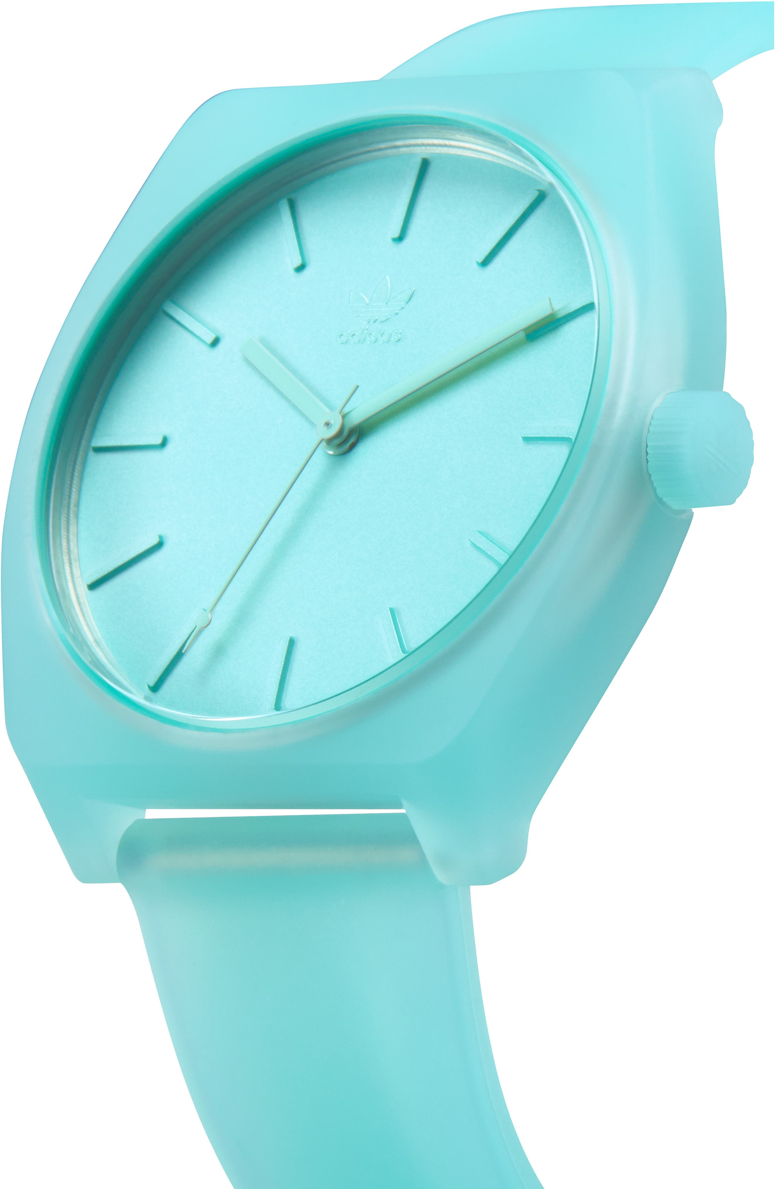 Process Silicone Strap Watch, 38mm,                             Alternate thumbnail 5, color,                             CLEAR MINT