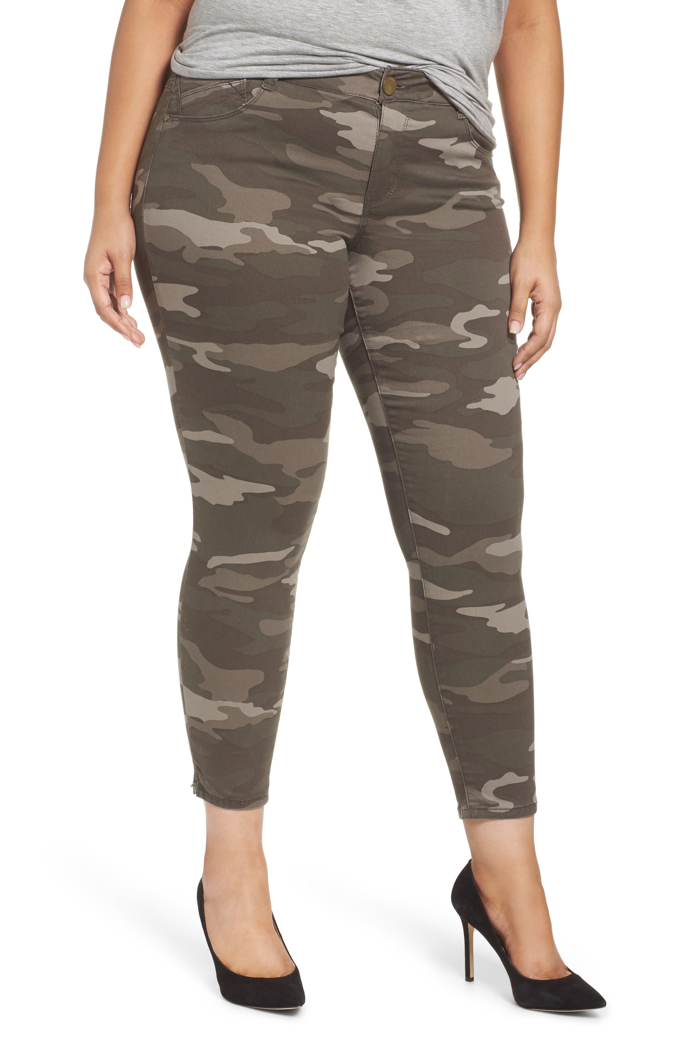 Ab-solution Ankle Skimmer Slit Pants,                         Main,                         color, 210