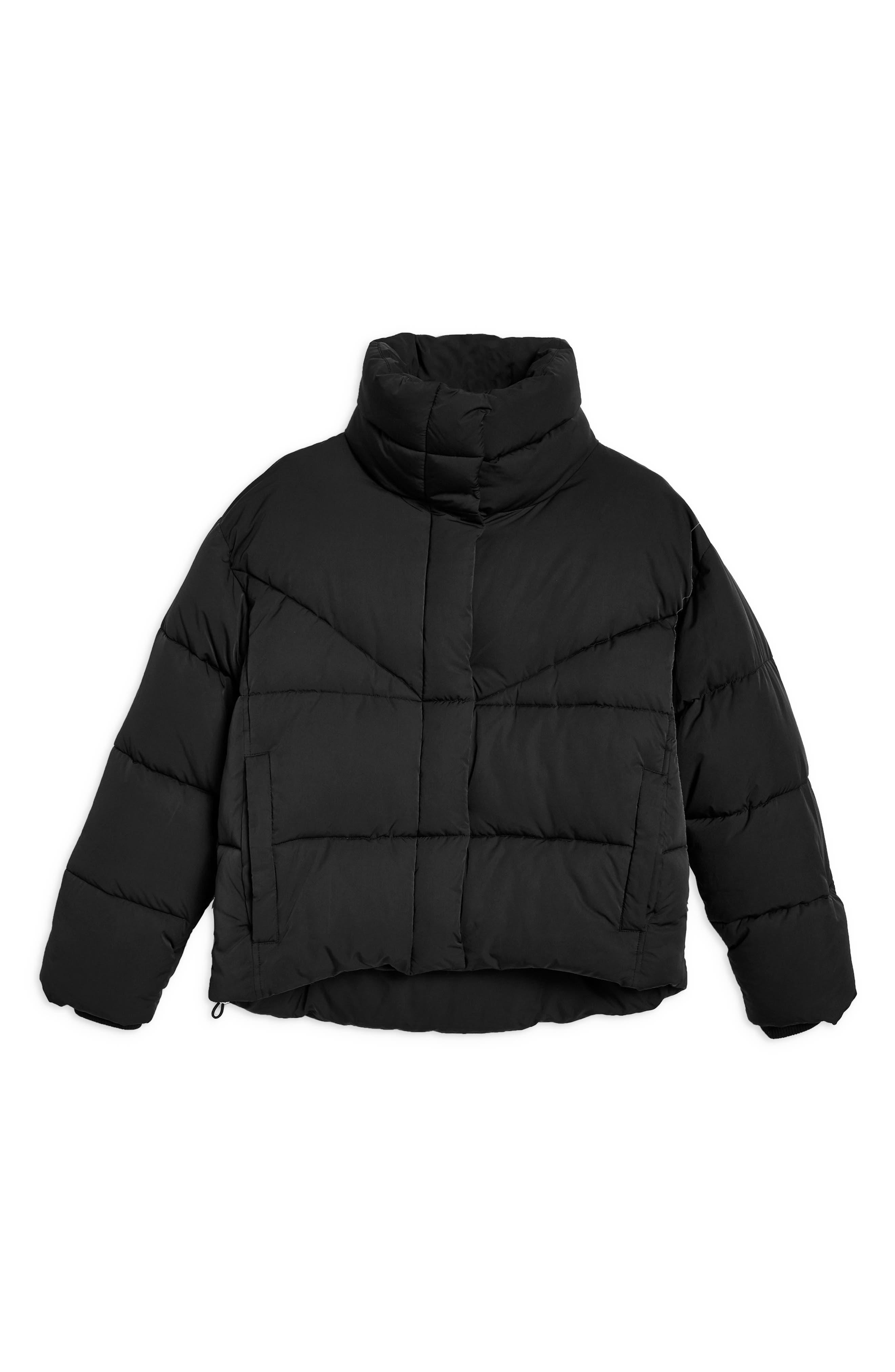 Meghan Puffer Jacket,                             Alternate thumbnail 4, color,                             BLACK