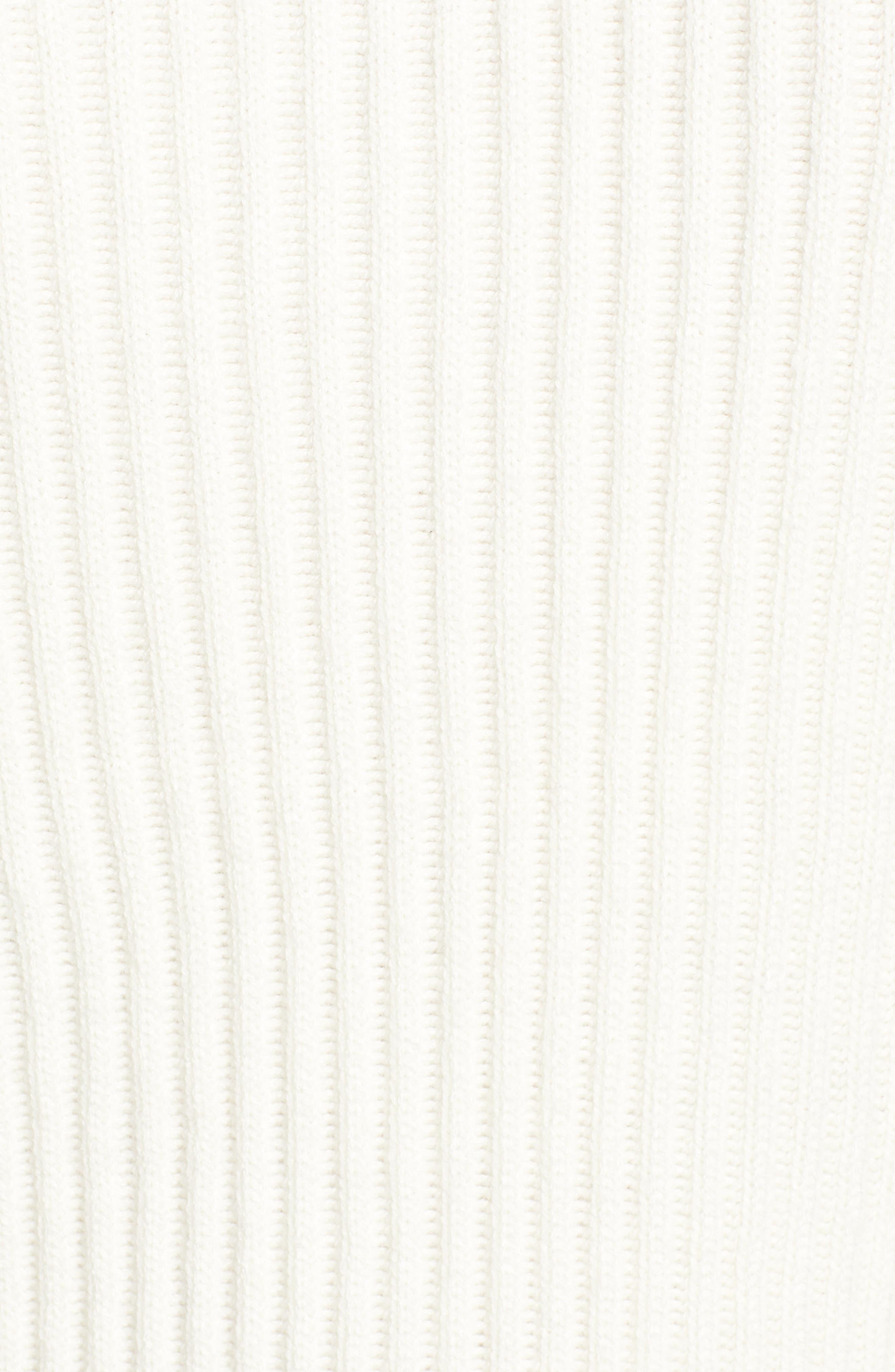 Half Zip Wool Blend Sweater,                             Alternate thumbnail 5, color,                             GREY