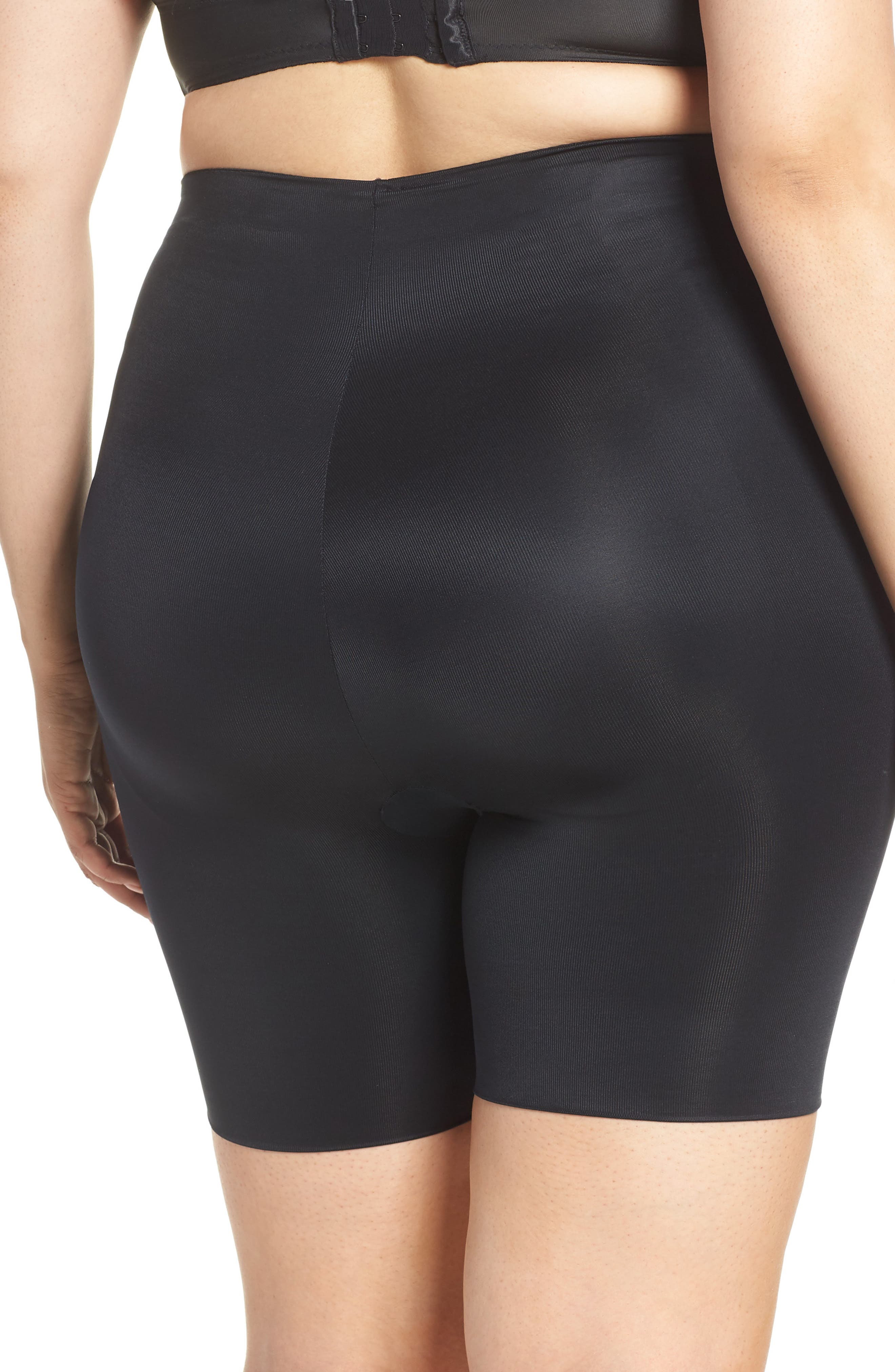 SPANX<SUP>®</SUP>,                             Suit Your Fancy Butt Enhancer Shorts,                             Alternate thumbnail 4, color,                             VERY BLACK