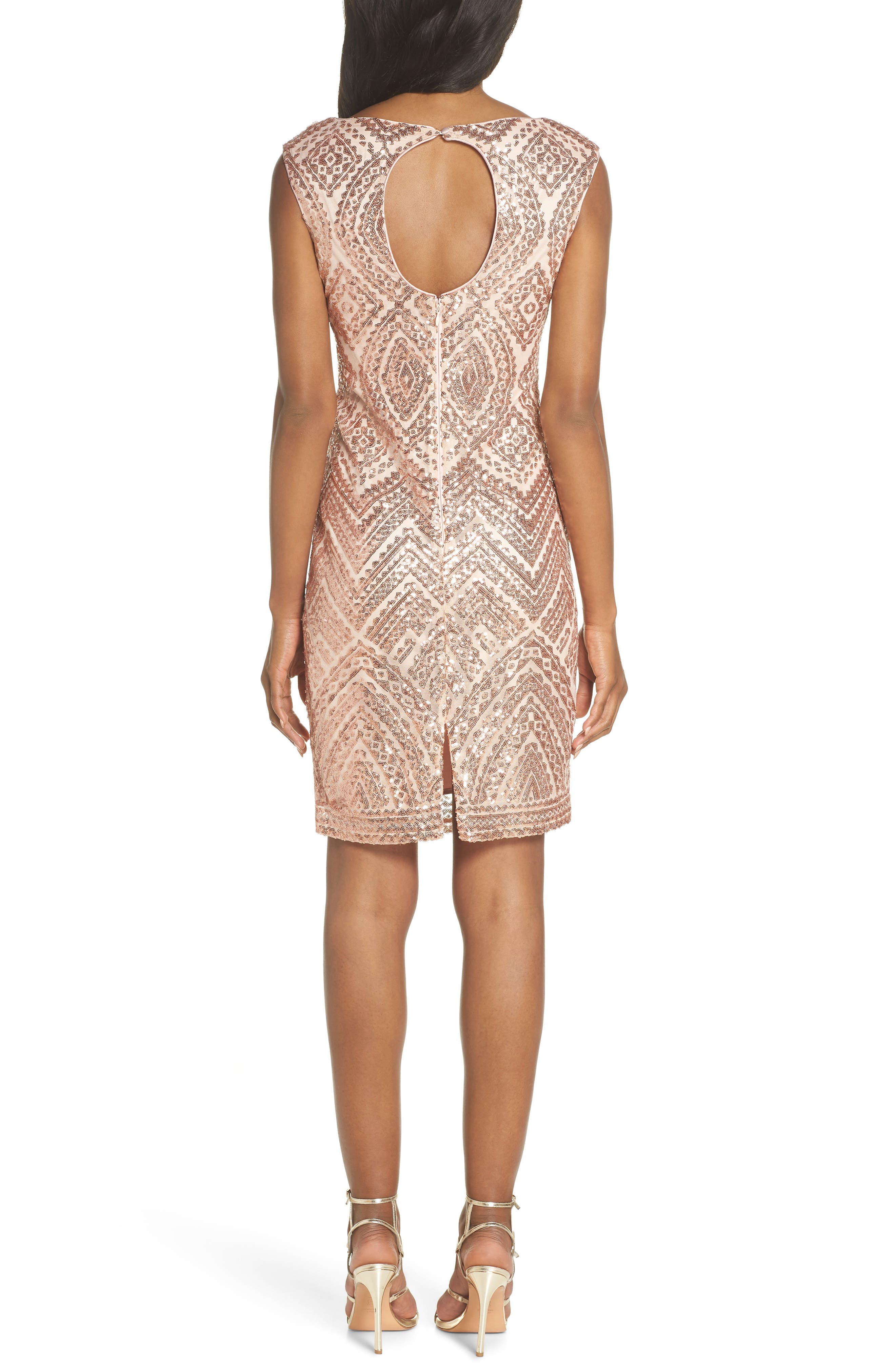 VINCE CAMUTO,                             Sequin Embellished Cocktail Dress,                             Alternate thumbnail 2, color,                             254
