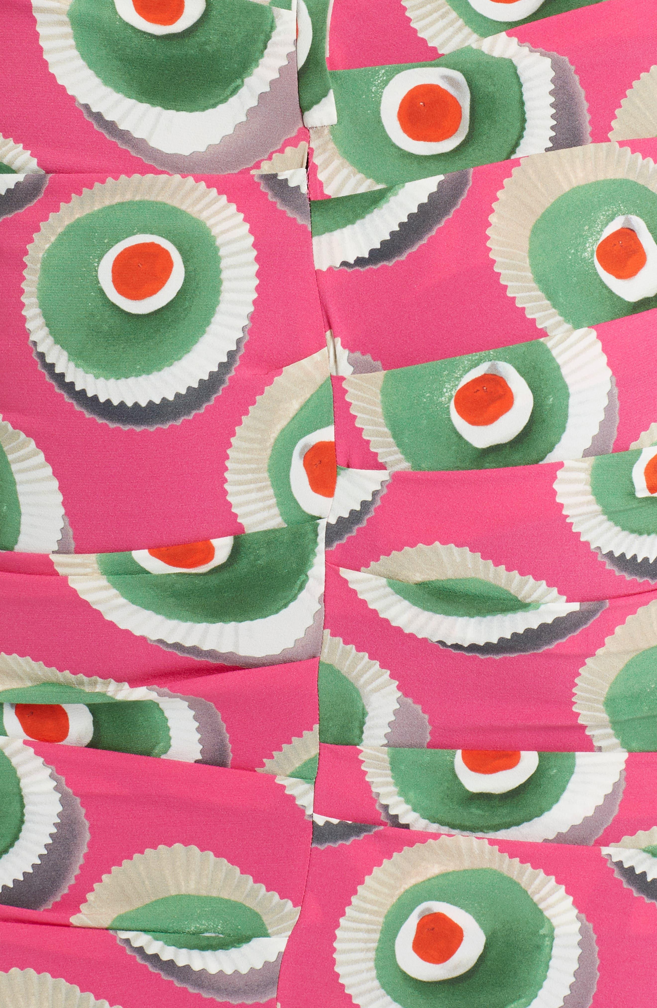 Cassate Print Silk Blend Dress,                             Alternate thumbnail 5, color,                             651
