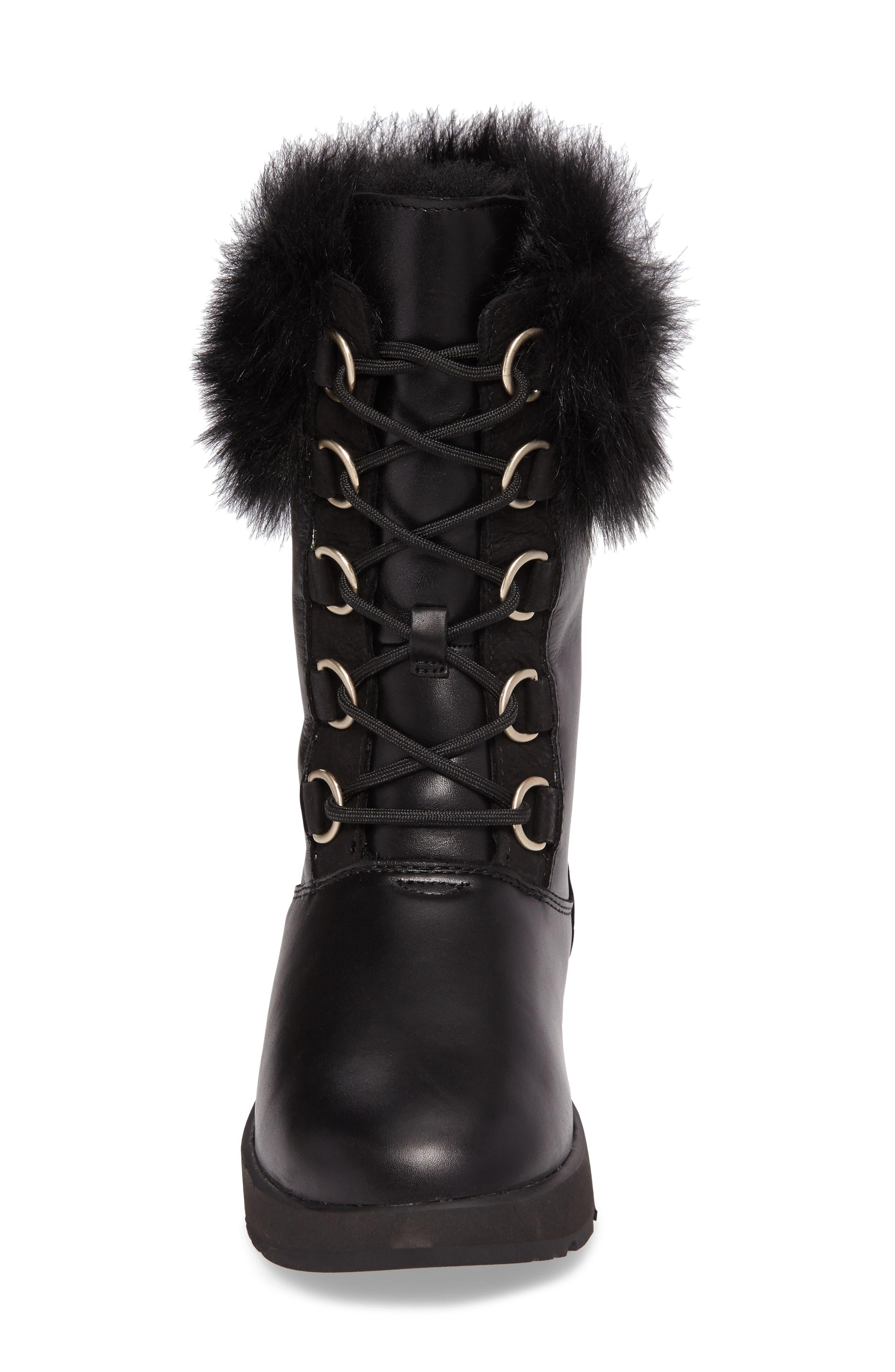 Aya Waterproof Snow Boot,                             Alternate thumbnail 4, color,                             001