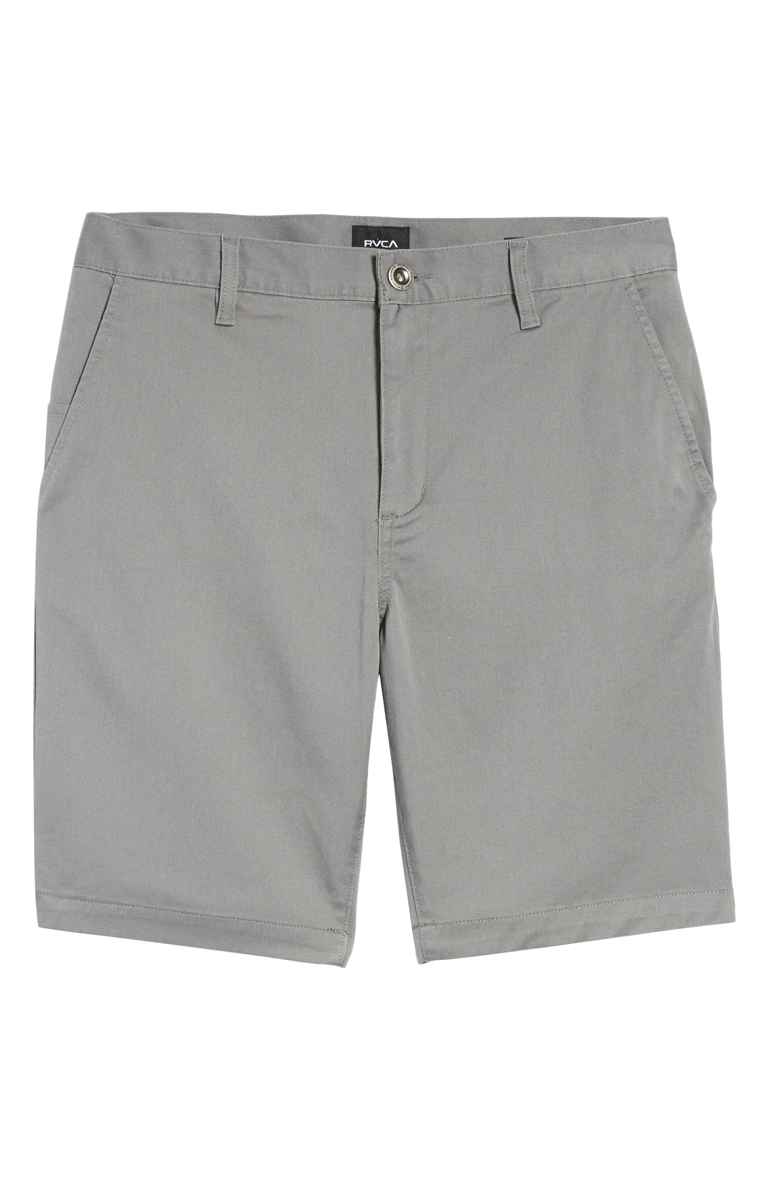 The Week-End Stretch Twill Chino Shorts,                             Alternate thumbnail 6, color,                             SMOKE
