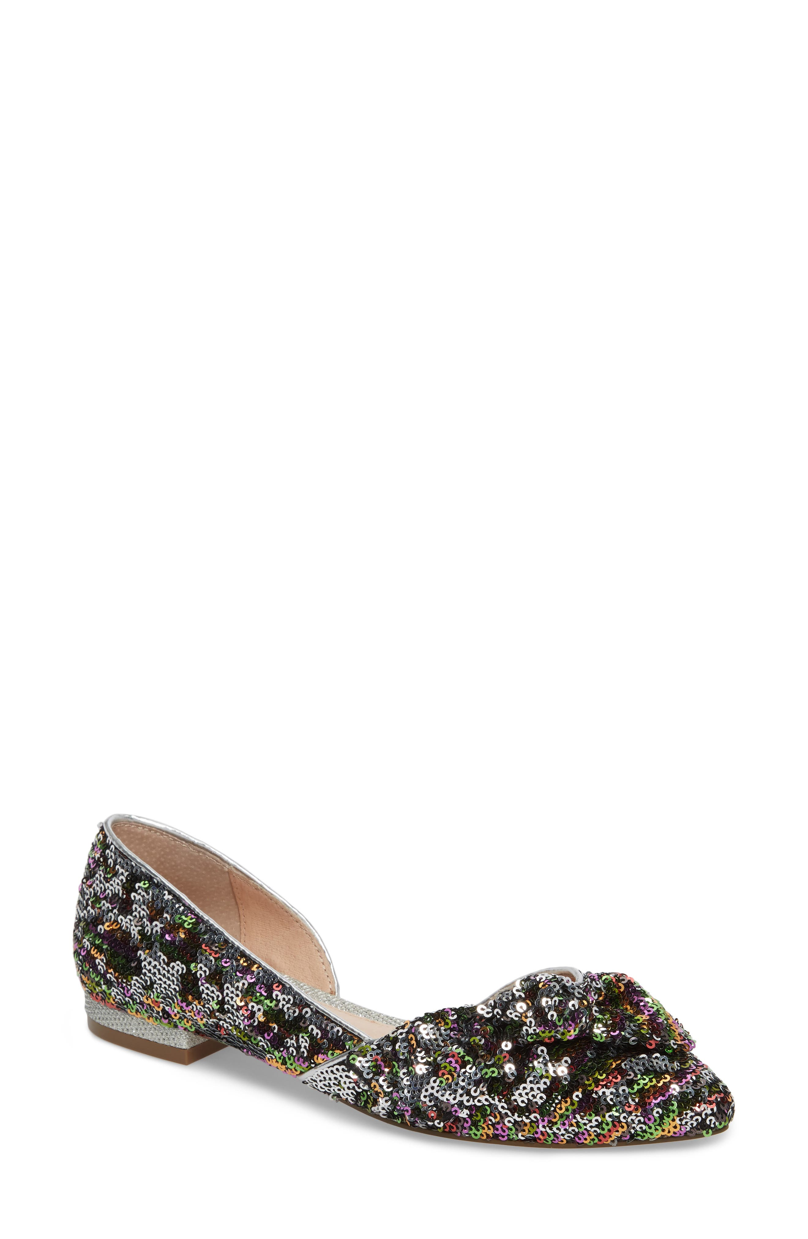 Embellished Knotted Flat,                             Main thumbnail 1, color,                             002