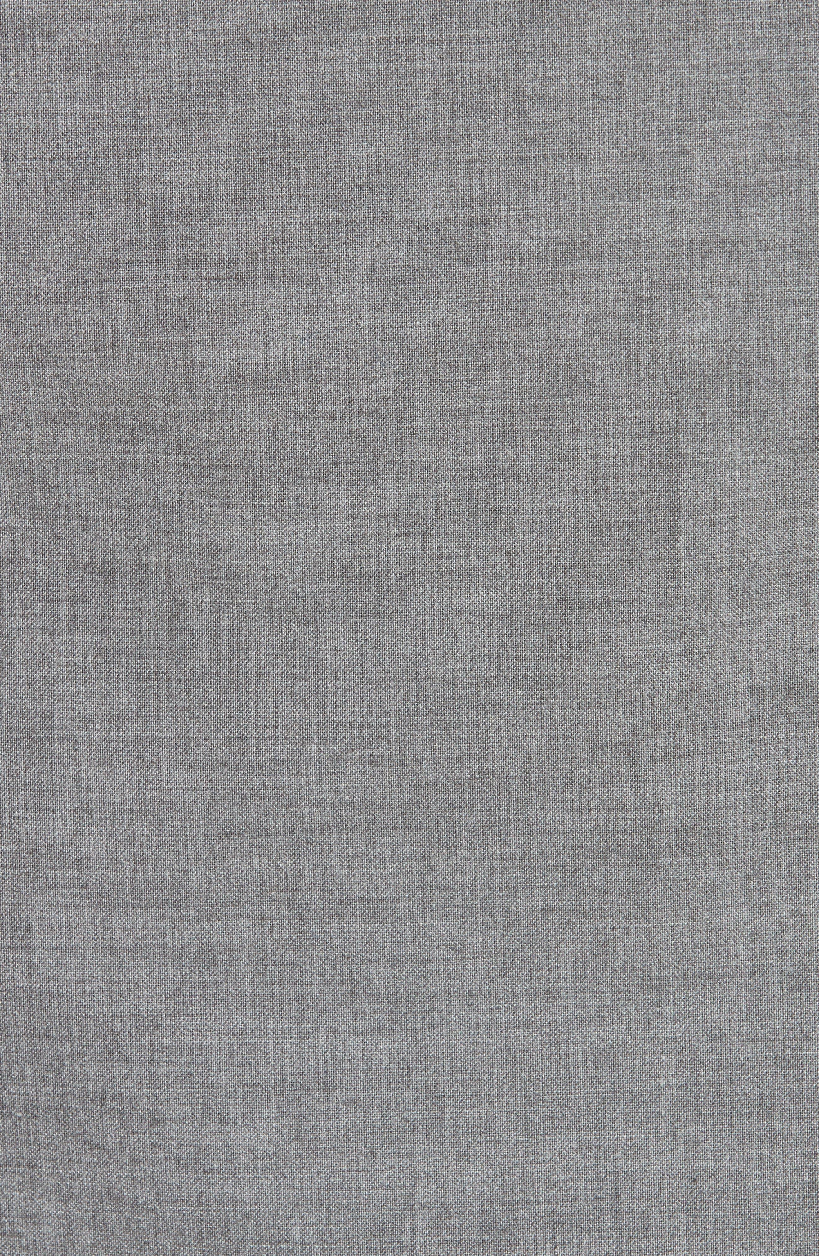 Trim Fit Stretch Wool Vest,                             Alternate thumbnail 6, color,                             DARK GREY