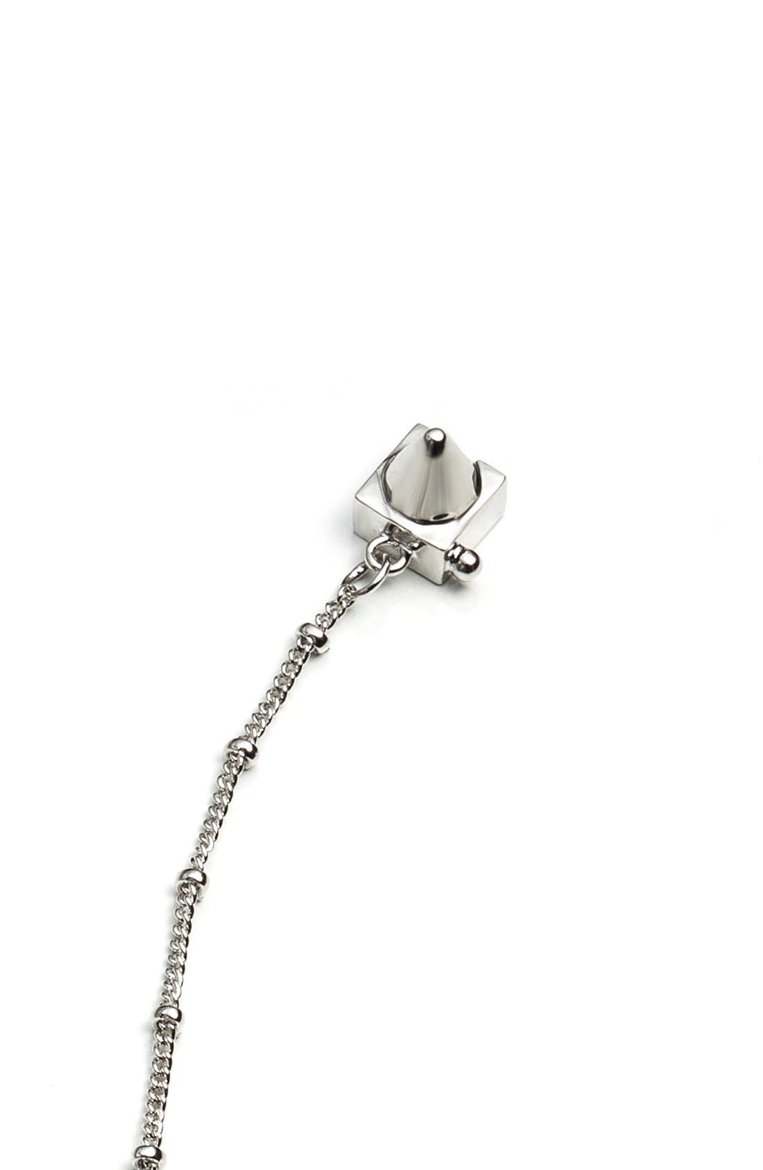 Small Chain Tassel Pendant Necklace,                             Alternate thumbnail 5, color,                             041