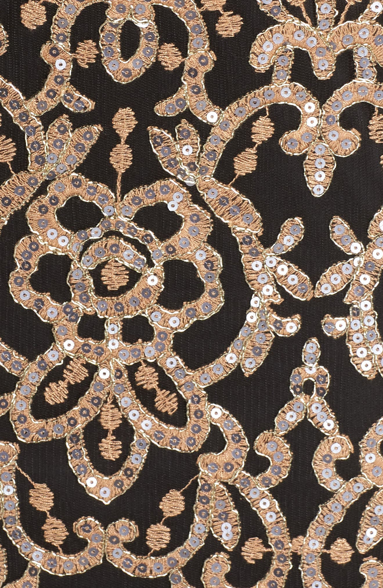Sequin Embellished Dress,                             Alternate thumbnail 6, color,                             COPPER SHADOW/ BLACK