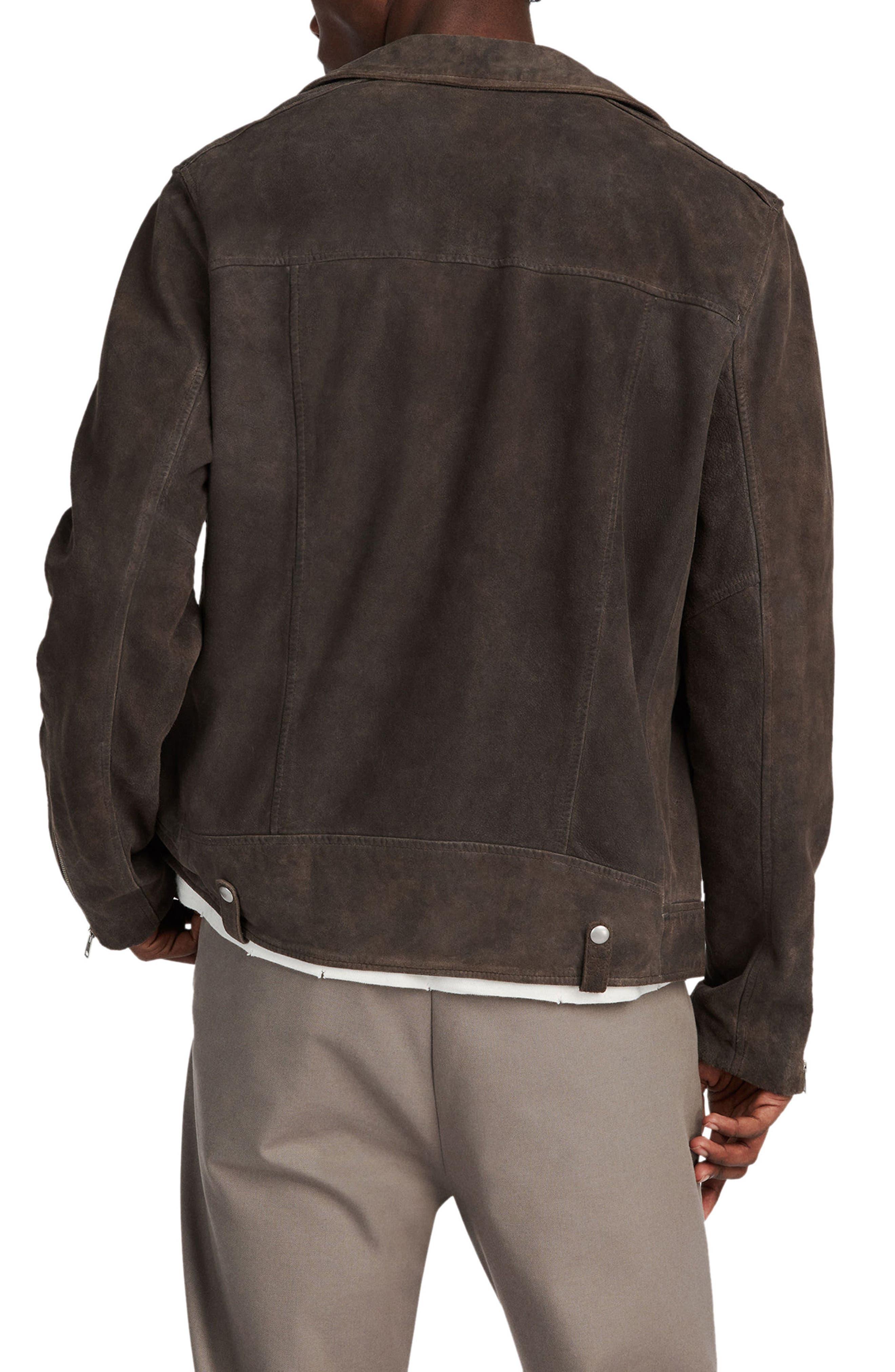 Kano Suede Moto Jacket,                             Alternate thumbnail 2, color,                             GRAVEL