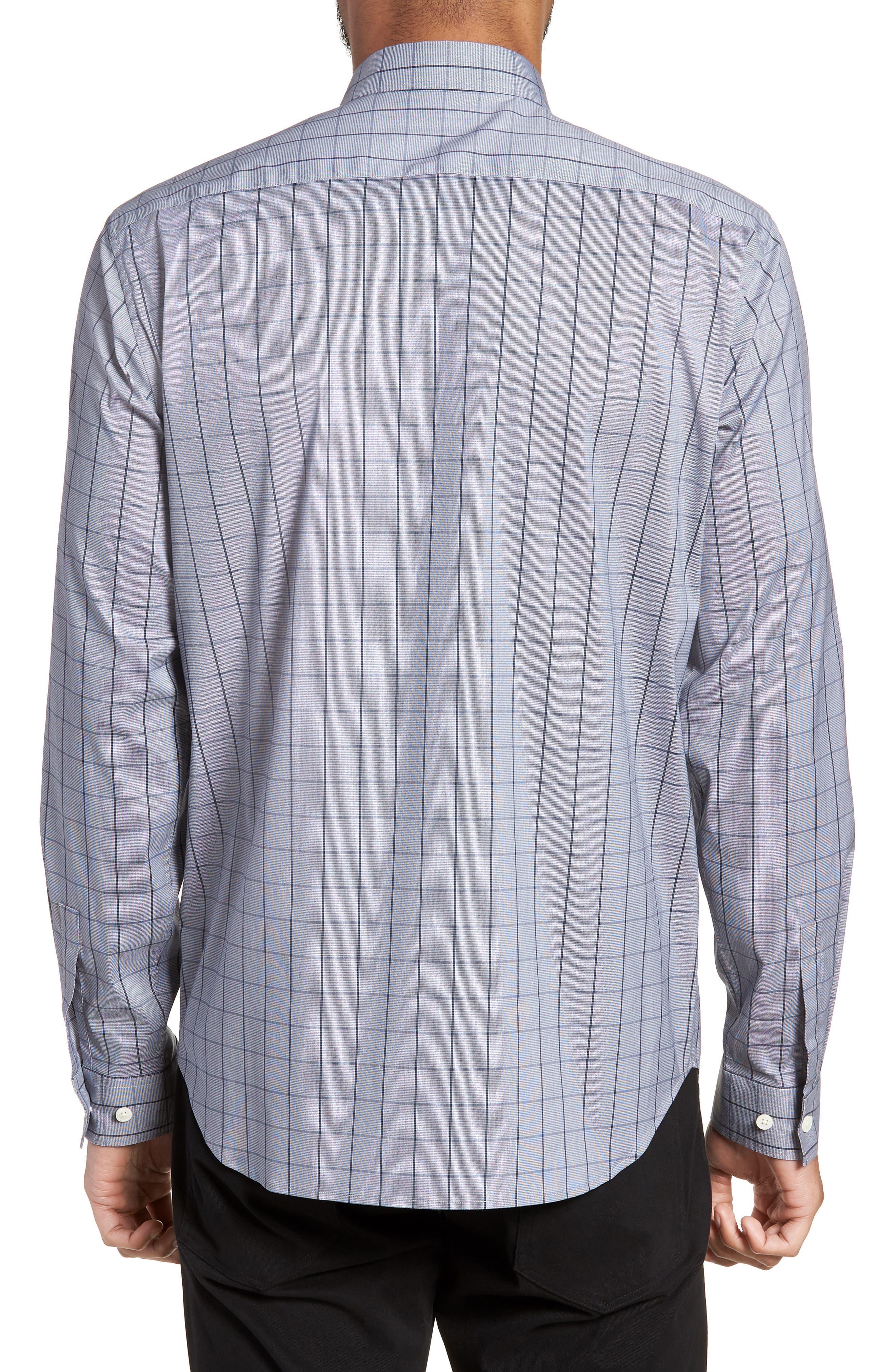Murrary Trim Fit Stretch Check Sport Shirt,                             Alternate thumbnail 2, color,                             471
