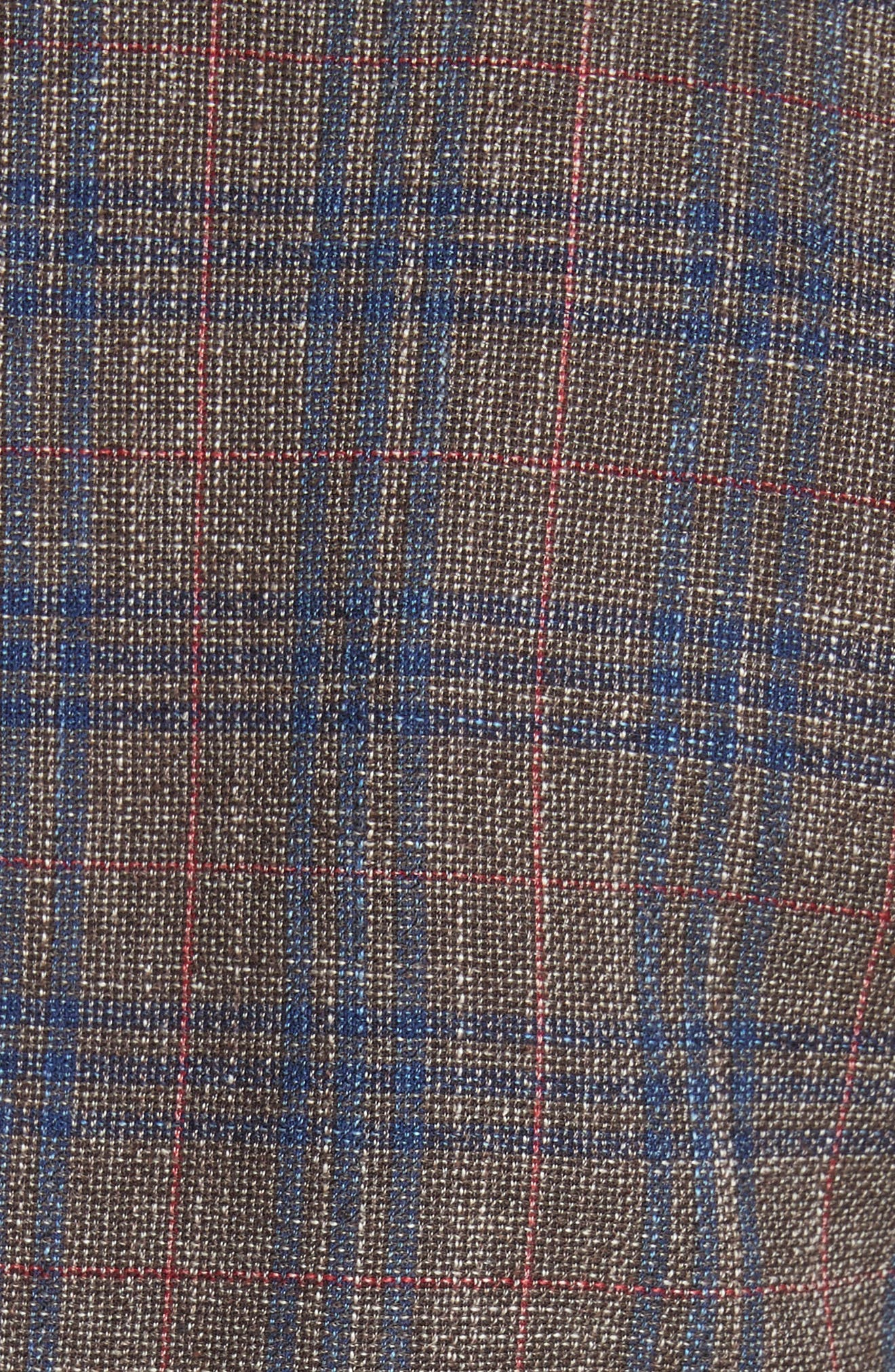 Beacon Plaid Faux Double Breasted Blazer,                             Alternate thumbnail 6, color,