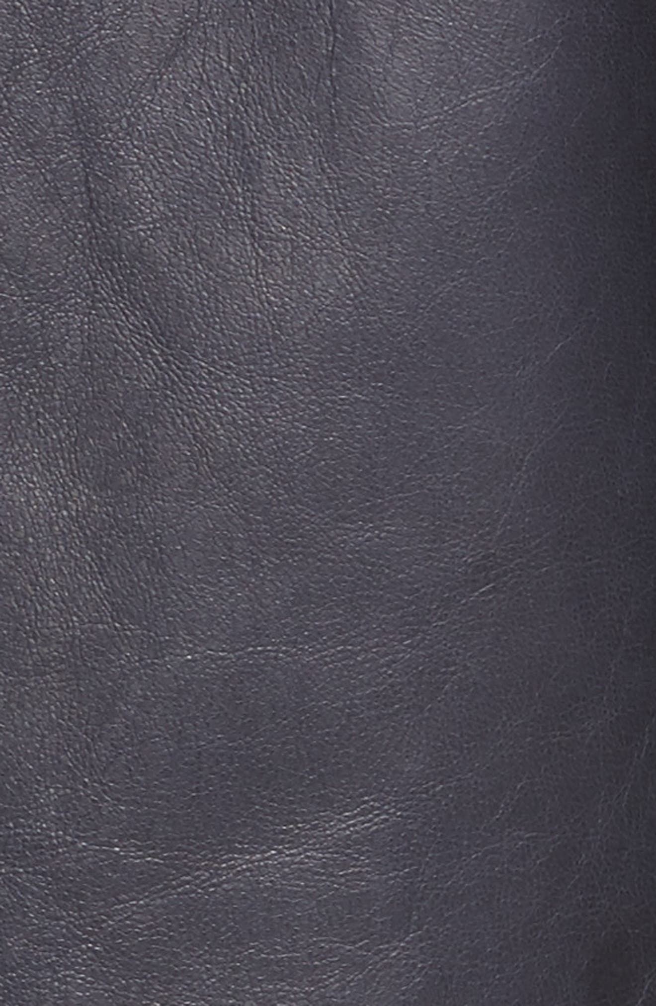 Clyde Lambskin Leather Jacket,                             Alternate thumbnail 6, color,                             479